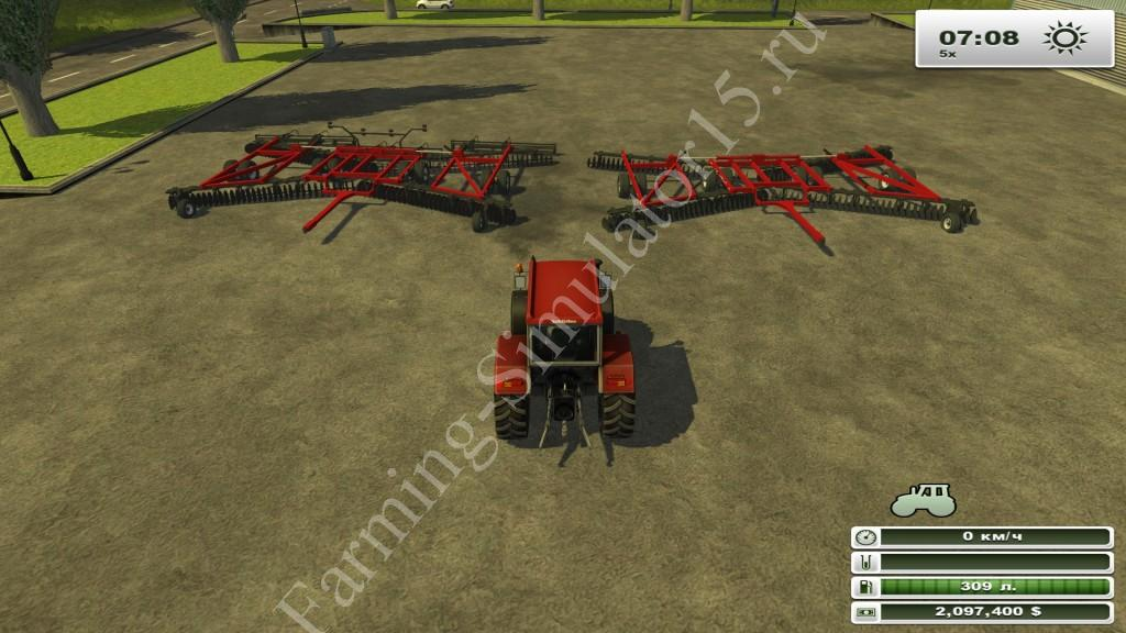 Case IH Wing Disk Pack v 1.0 - мод культиватора Farming Simulator 13