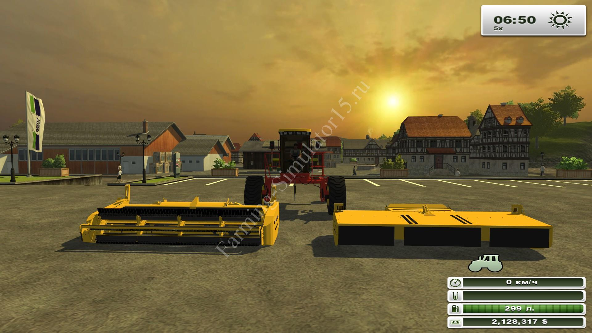 New Holland 240 Speedrower v 2.0 - мод газонокосилки Farming Simulator 13