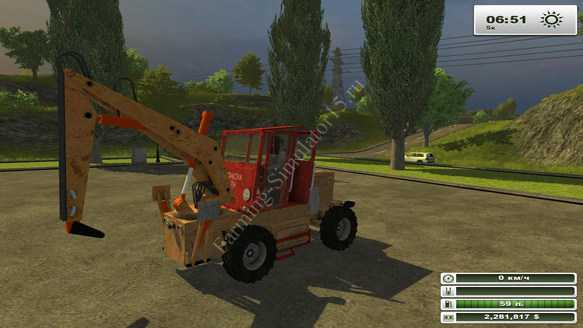 Tih 445 v 1.0 - мод экскаватор Farming Simulator 13