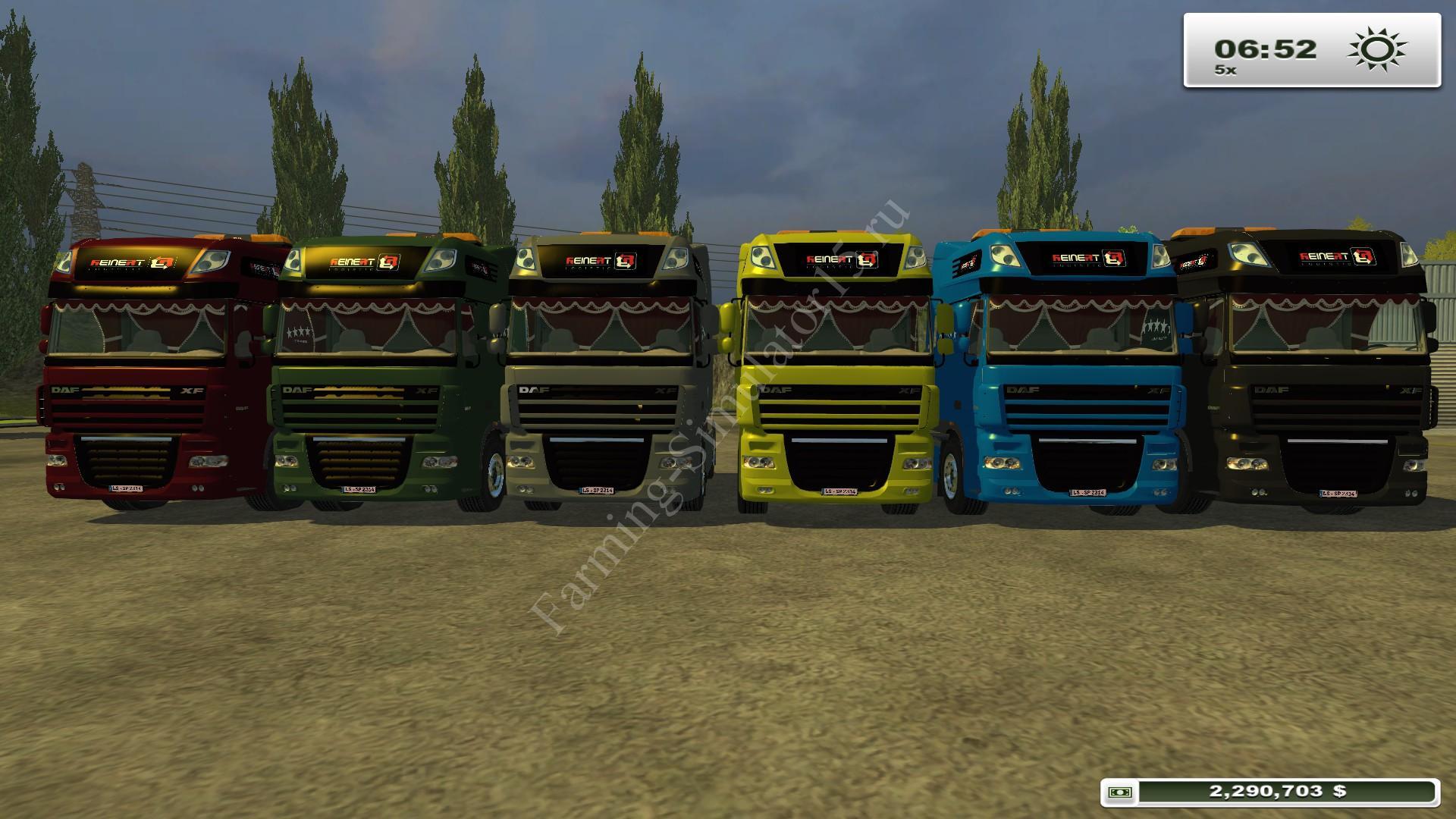 DAF Truck Pack v 1.0 - мод грузовика Farming Simulator 13