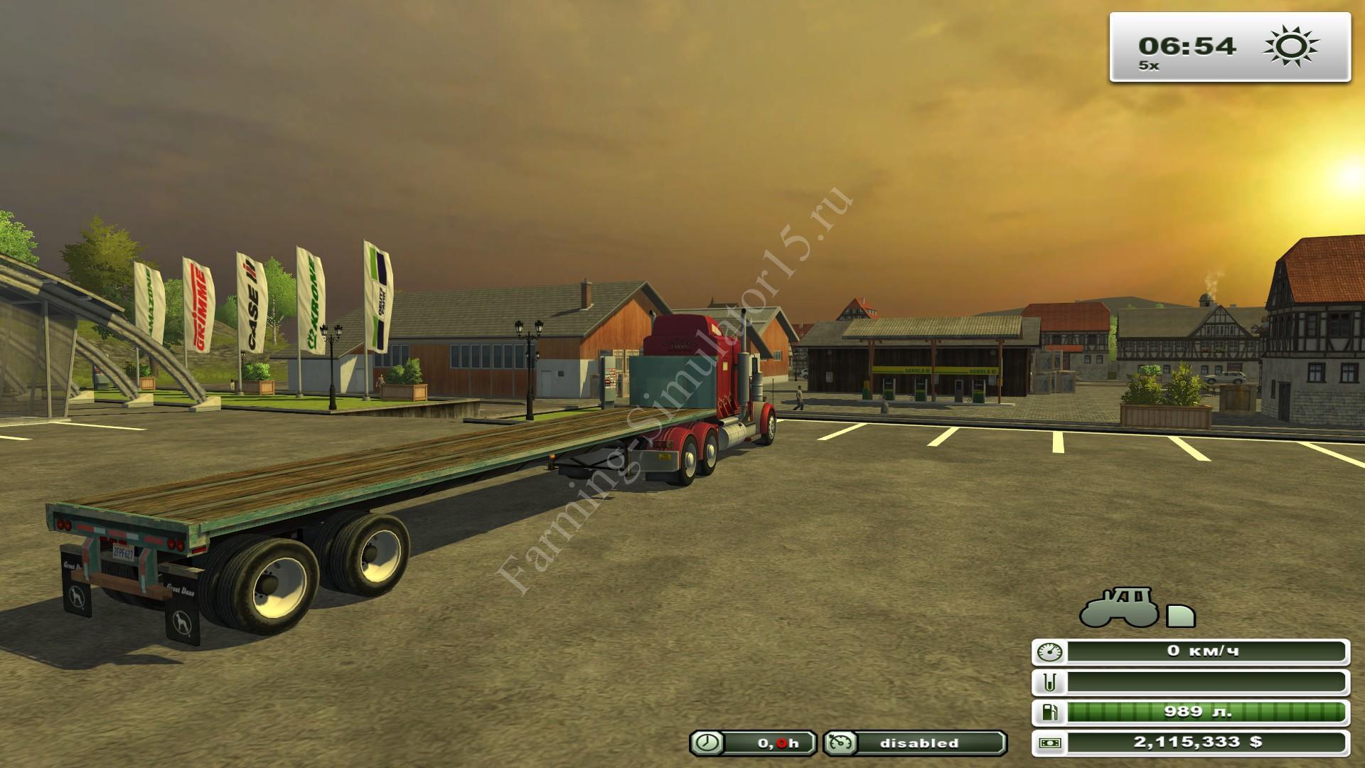 US Flatbed Trailers v 1.0 - мод полуприцеп Farming Simulator 13