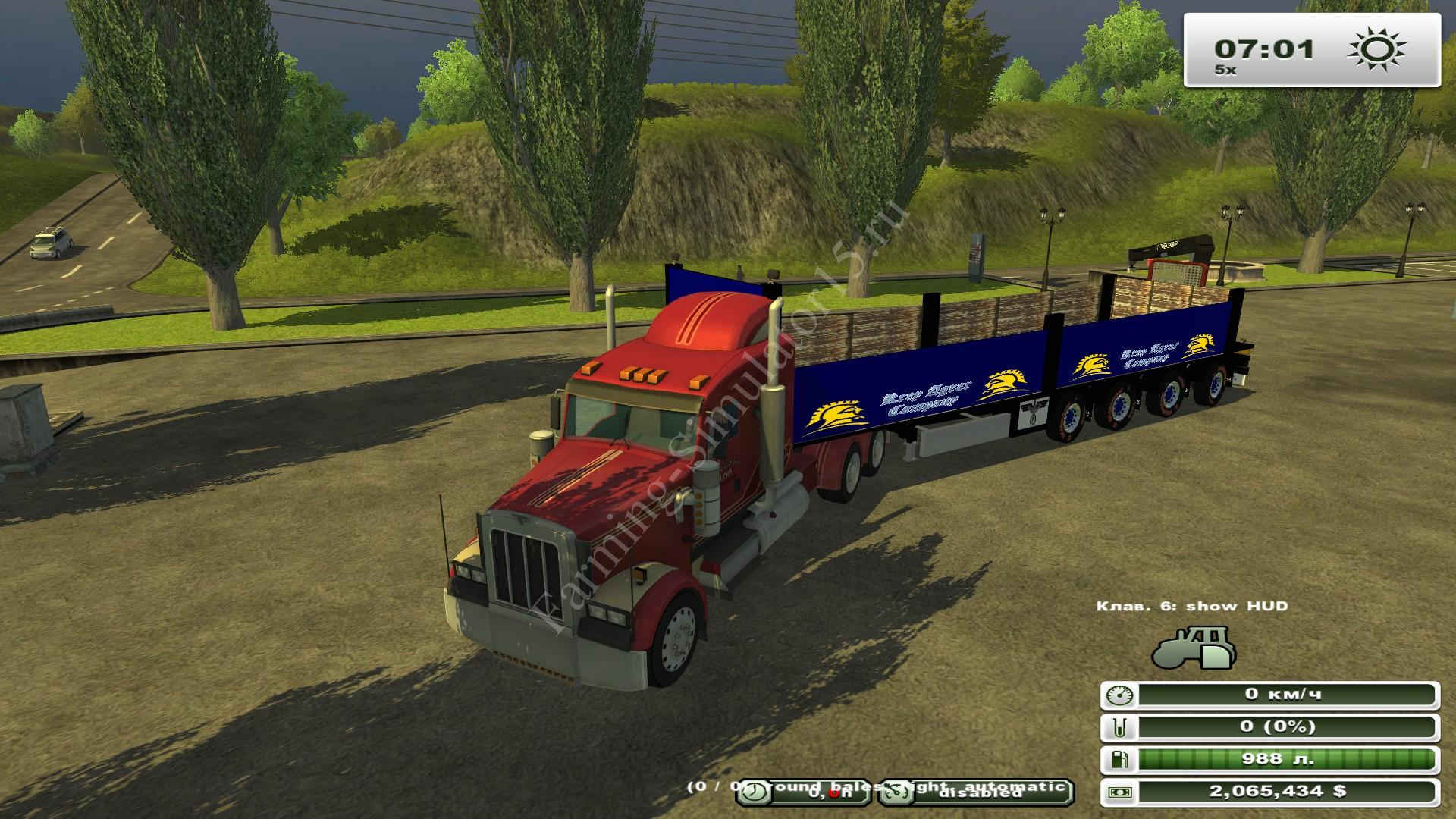 Flatbed East Side v 2.0 Kran - мод прицеп для тюков Farming Simulator 13