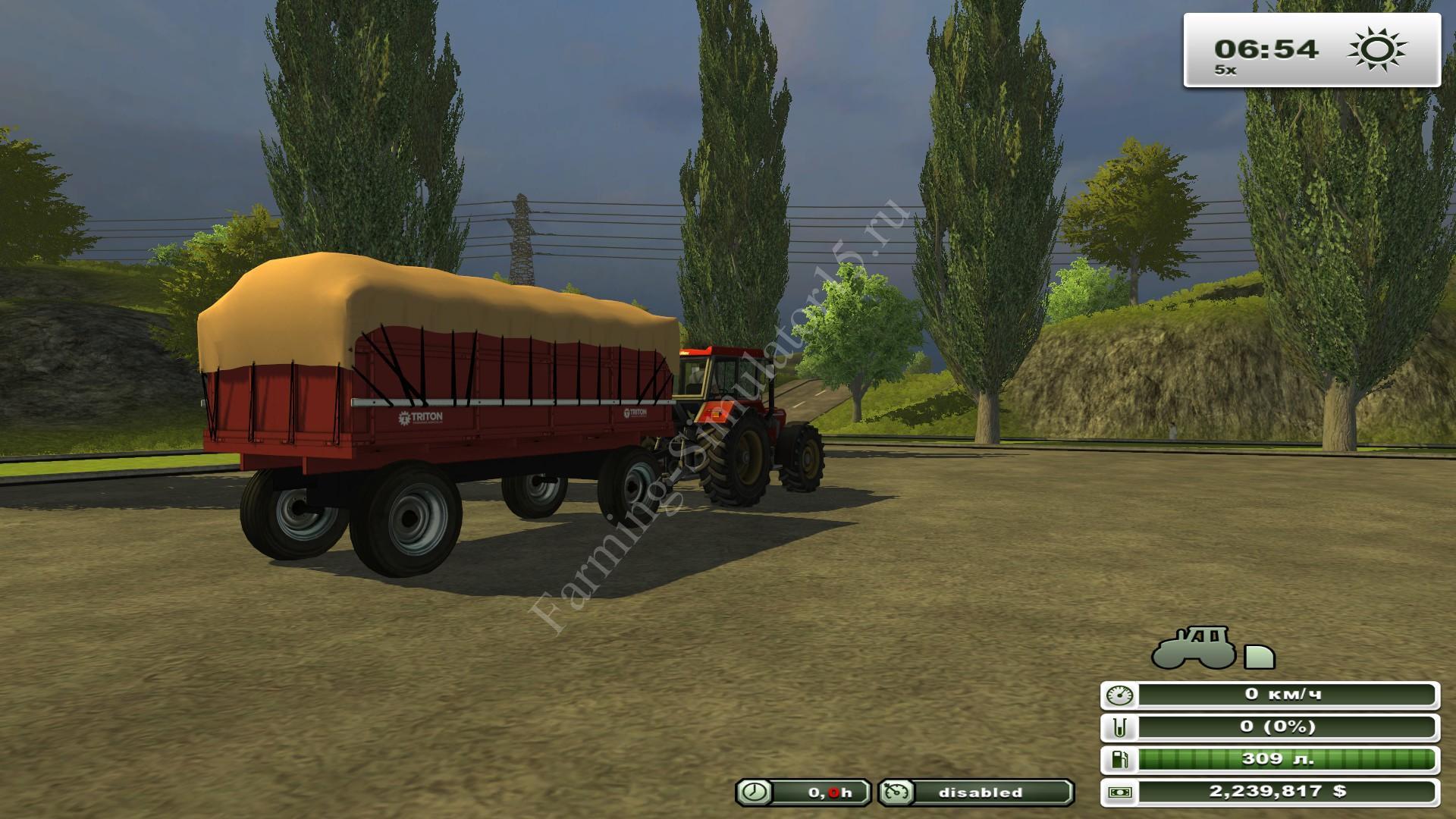 Triton lavavel V 1.0 - мод прицепа с поворотным кругом Farming Simulator 13