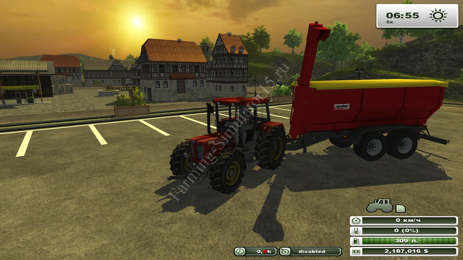 Agroliner TUW 20 v 1.0 - мод двуосного прицепа Farming Simulator 13, Farming Simulator 2013