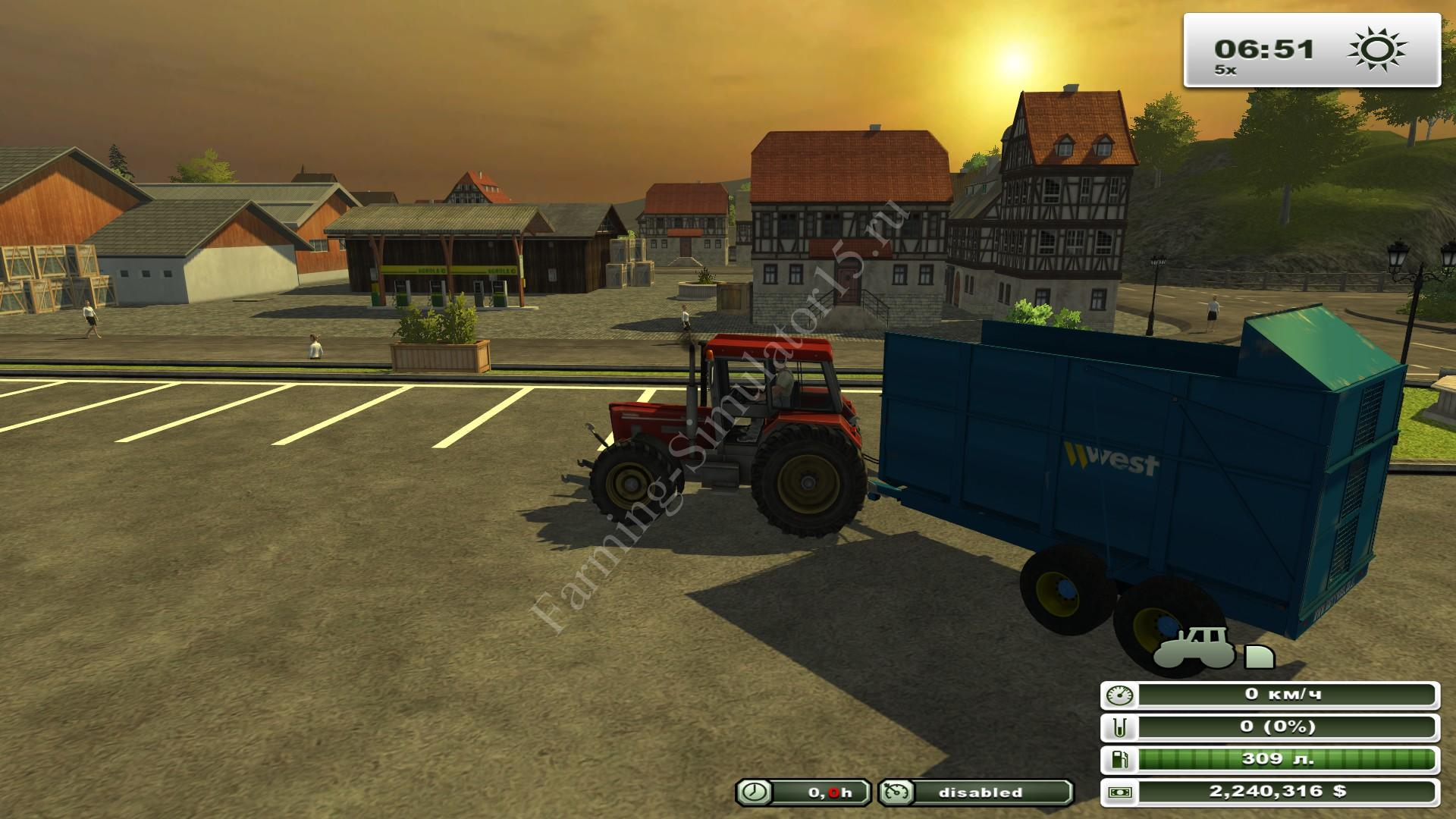 Harry West 10T Silage Trailer v 1.0 - мод прицепа для силоса Farming Simulator 13, Farming Simulator 2013
