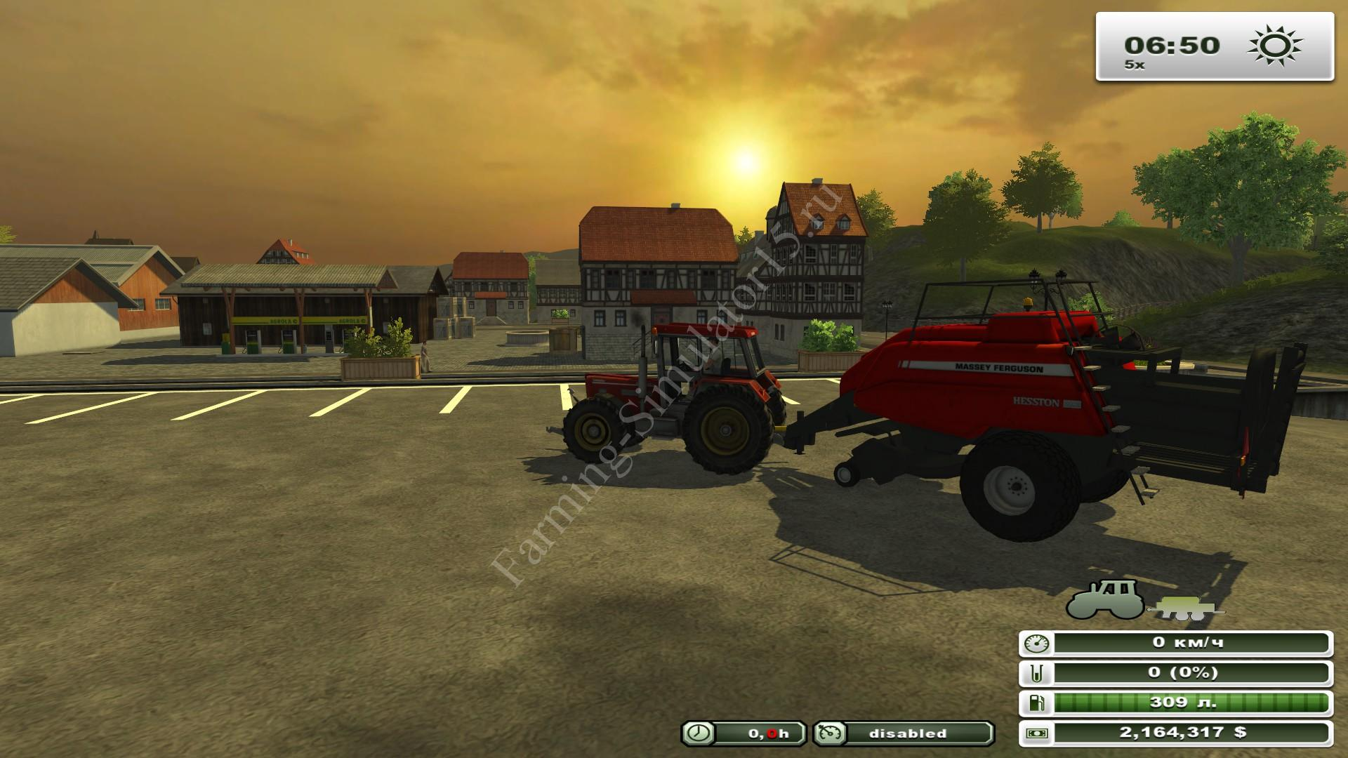 Massey Ferguson 2190 BB v 3.0 - мод тюкопресса Farming Simulator 13, Farming Simulator 2013