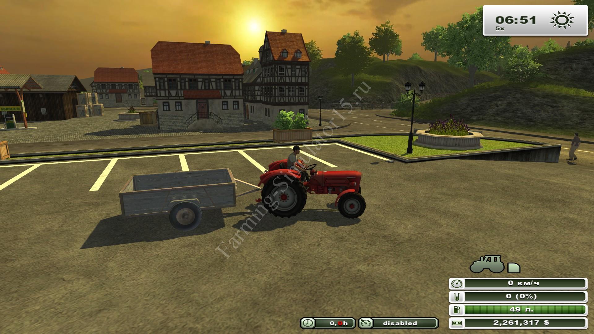 Small trailer v 1.0 - мод прицеп Farming Simulator 13, Farming Simulator 2013