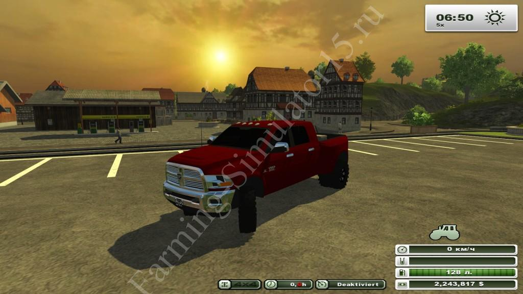 Dodge Ram 3500 2011 v 1.0 - мод легкового авто Farming Simulator 13, Farming Simulator 2013