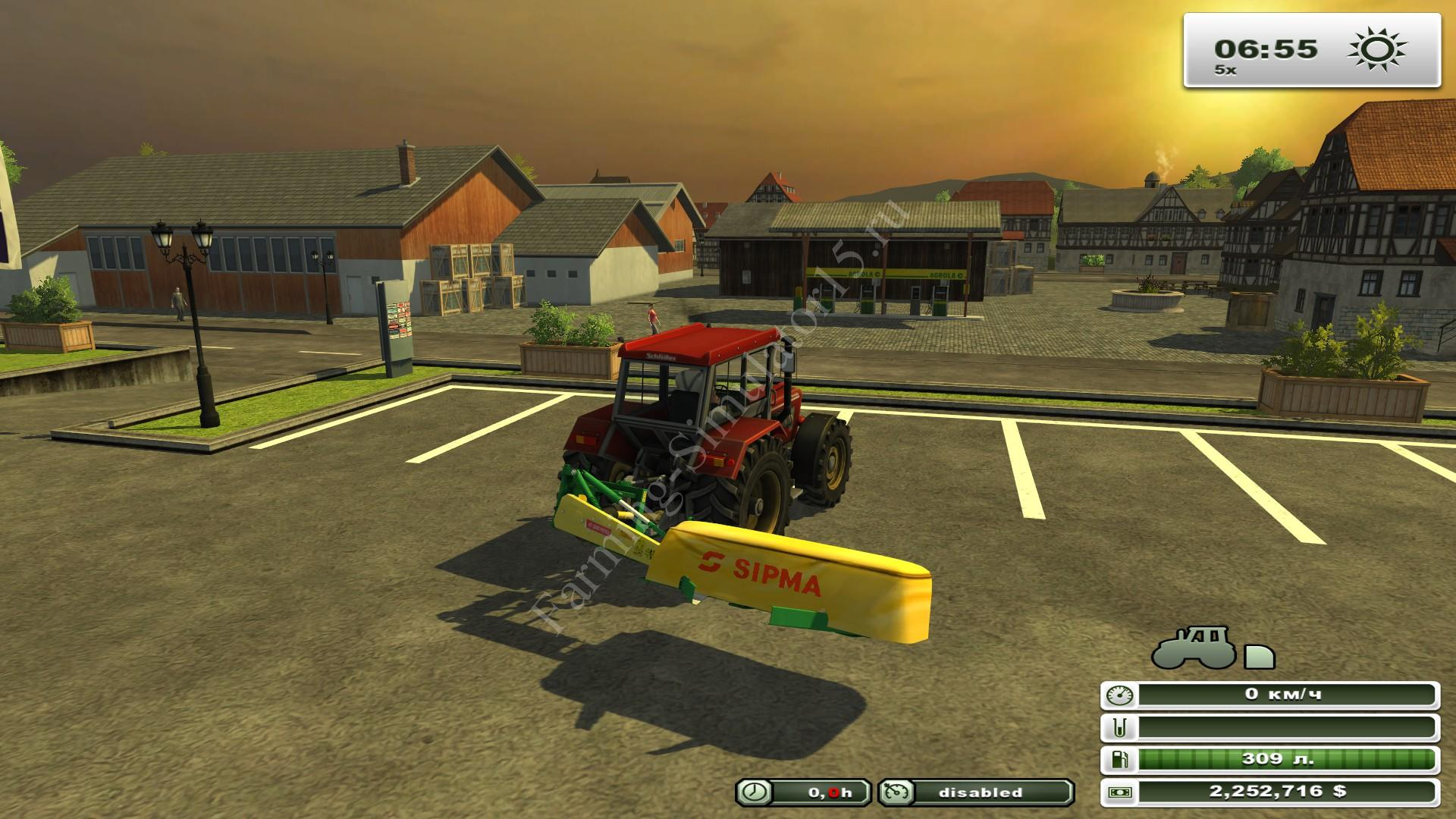 Sipma Preria 1600 v 1.0 - мод More Realistic газонокосилка Farming Simulator 13, Farming Simulator 2013