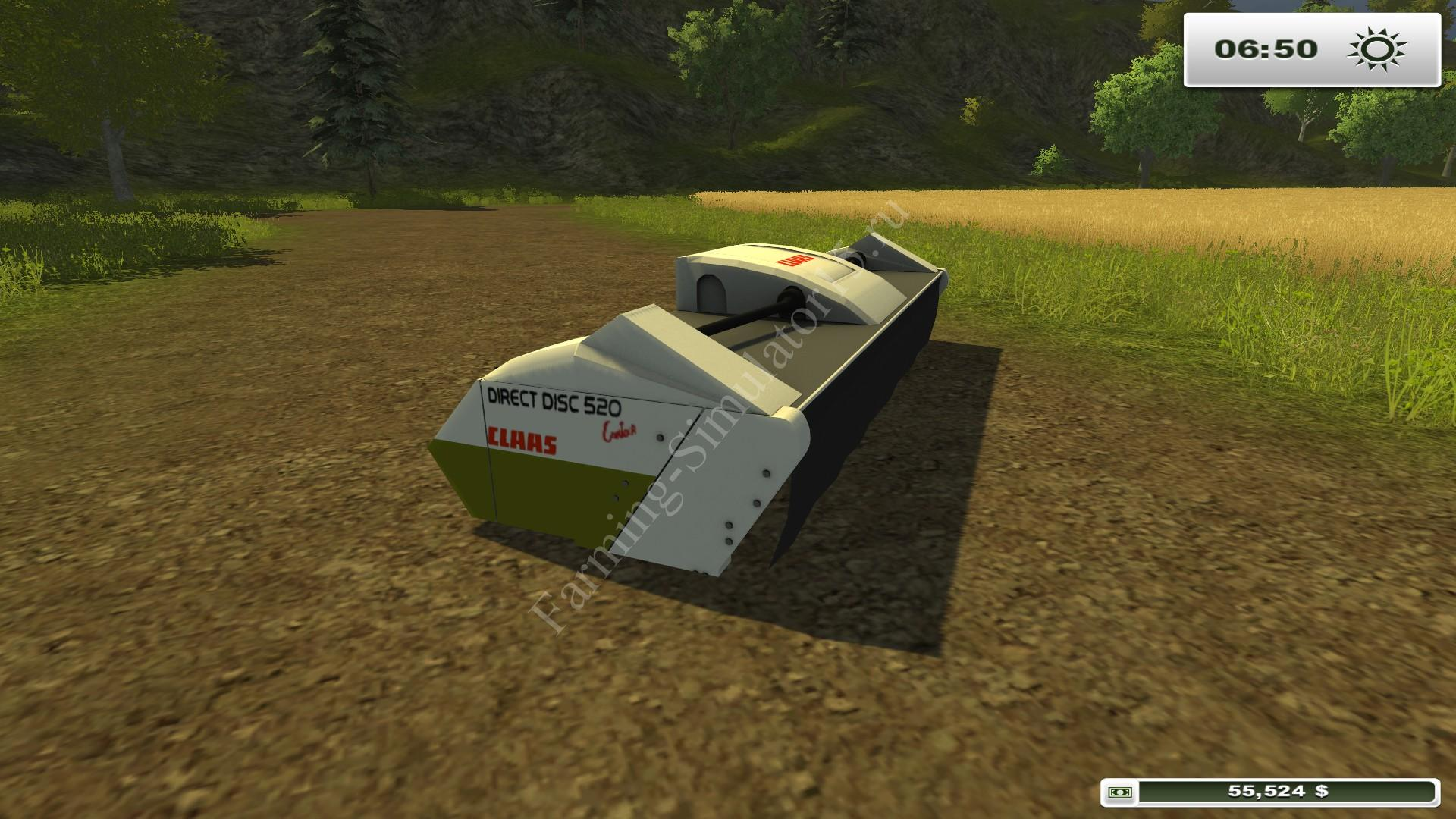 Claas Direct Disk 520 v 1.0 - мод More Realistic жатка Farming Simulator 2013, Farming Simulator 13