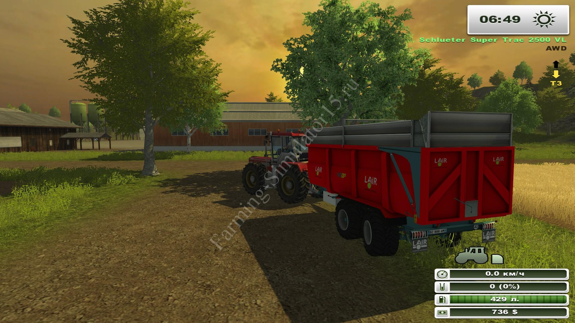 Мод прицепа Benne Lair v 1.0 More Realistic, Farming Simulator 2013, Farming Simulator 13