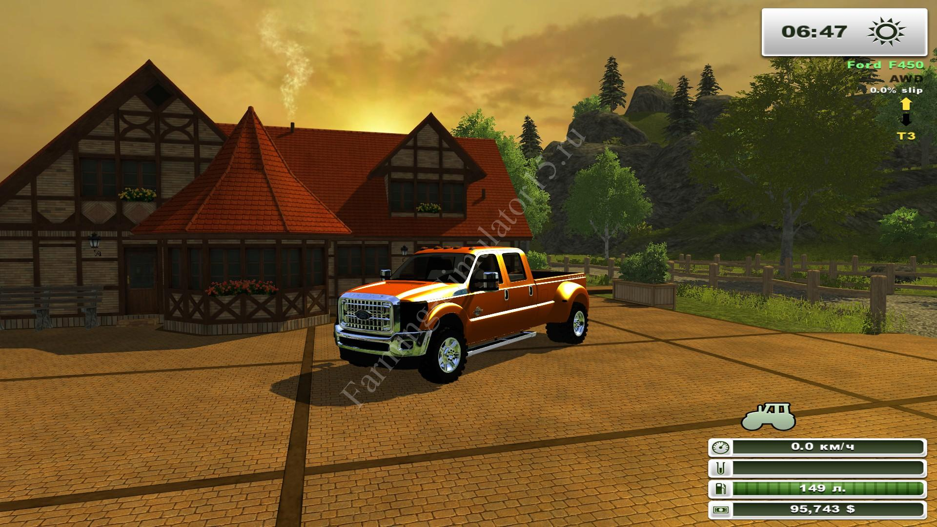 Мод легкового авто Ford F450 v 1.0 More Realistic, Farming Simulator 2013, Farming Simulator 13