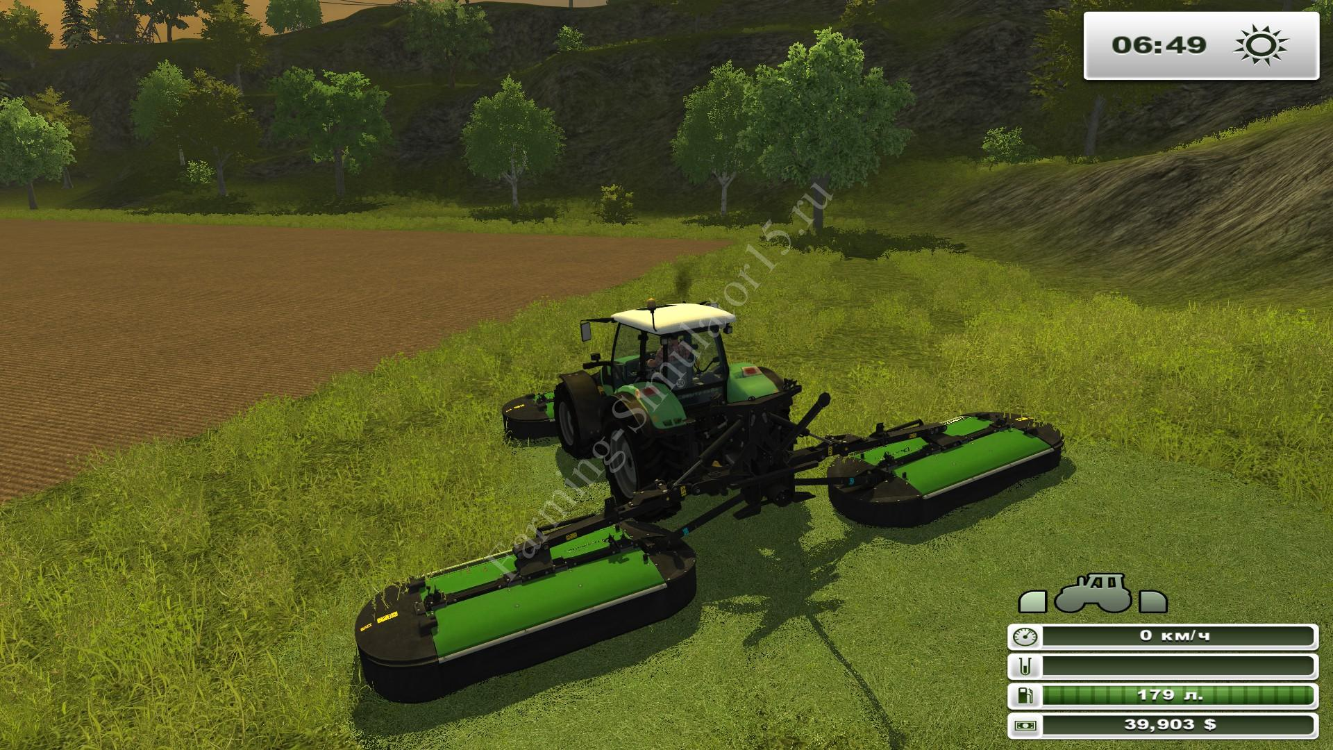 Мод газонокосилки Drum Master 432F and 493 v 1.0 Farming Simulator 2013, Farming Simulator 13