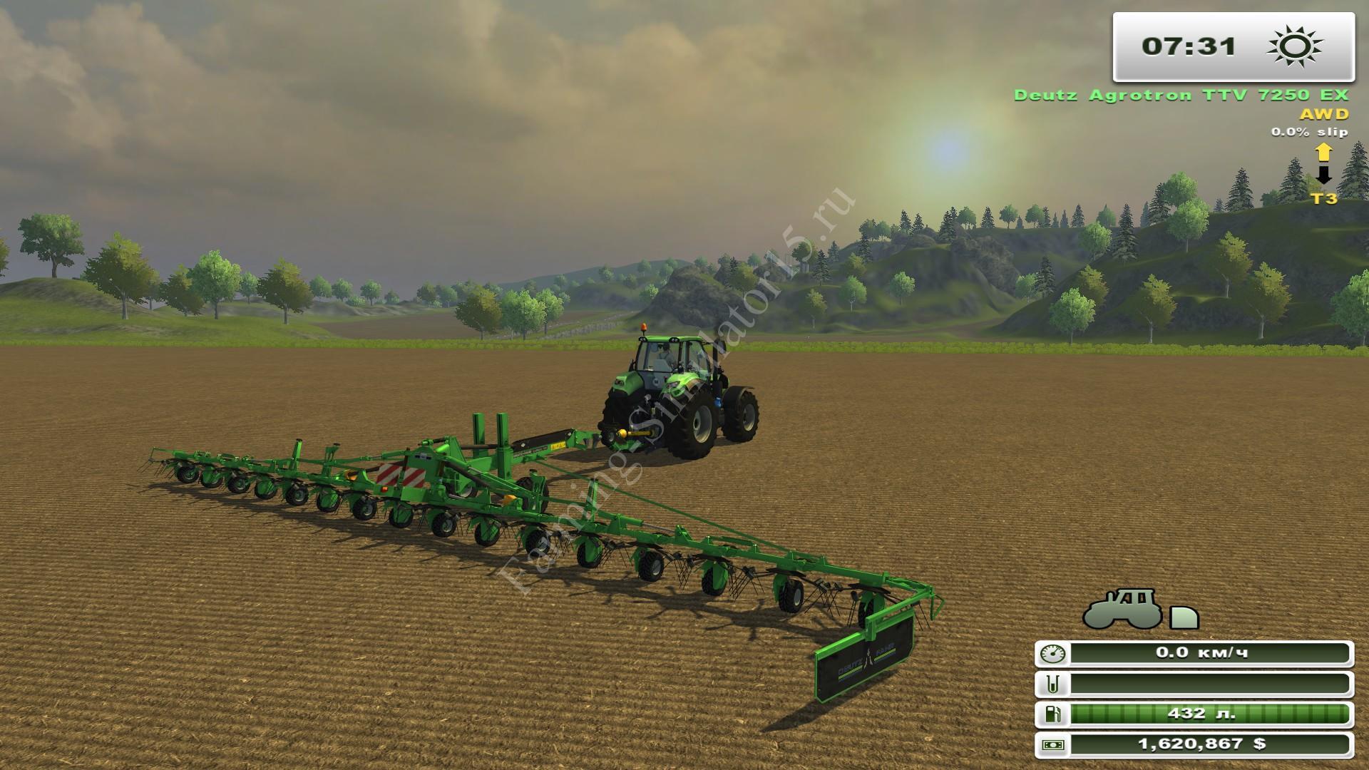 Мод ворошилки Driving CondiMaster 17041 v 1.0 Farming Simulator 2013, Farming Simulator 13