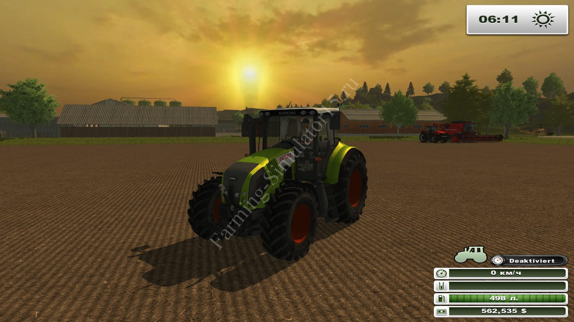 Мод трактора Claas Axion 820 v 2.2 Farming Simulator 2013, Farming Simulator 13