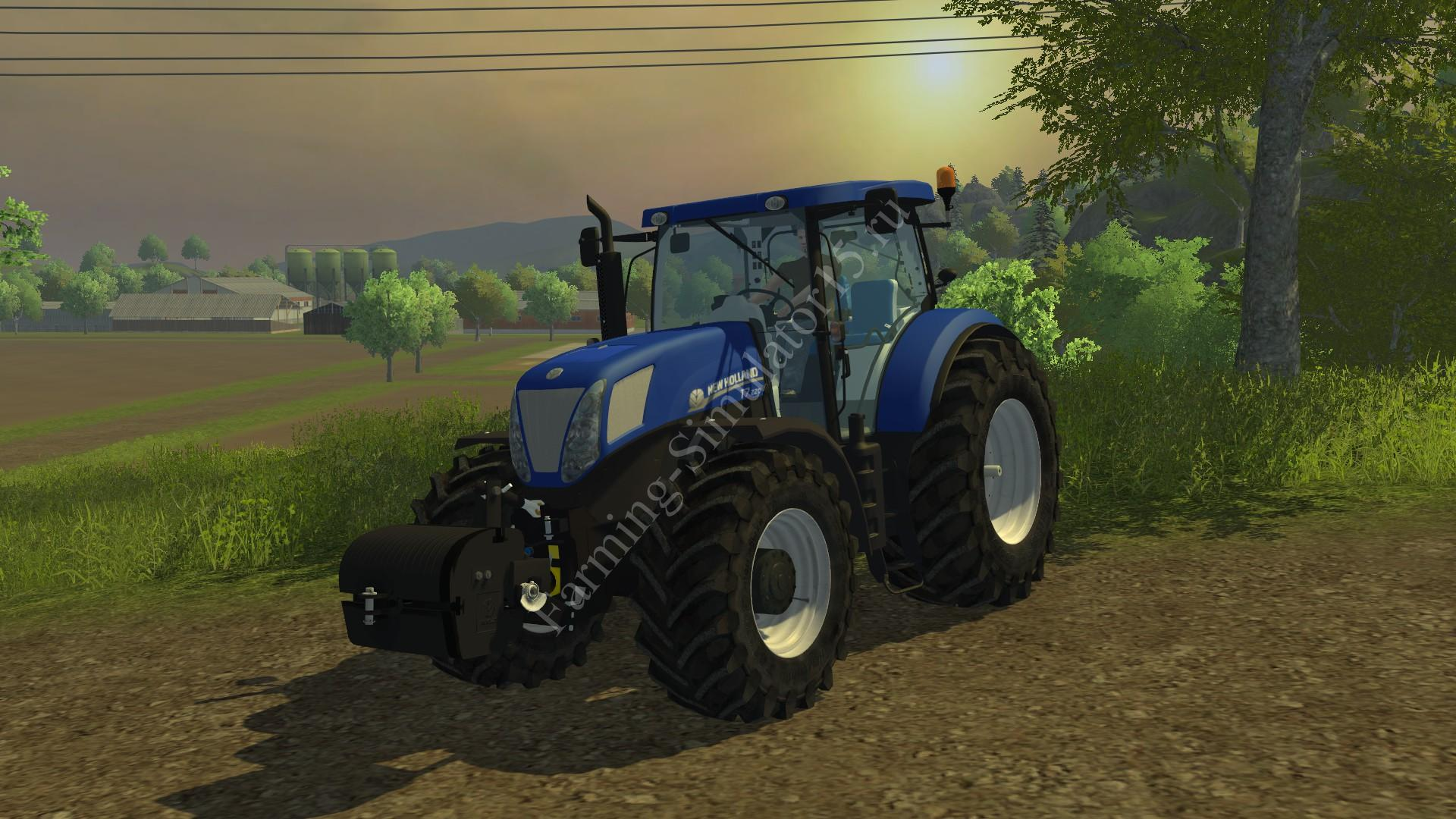 Мод трактора New Holland T7 220 Blue Power v 1.0 Farming Simulator 2013, Farming Simulator 13