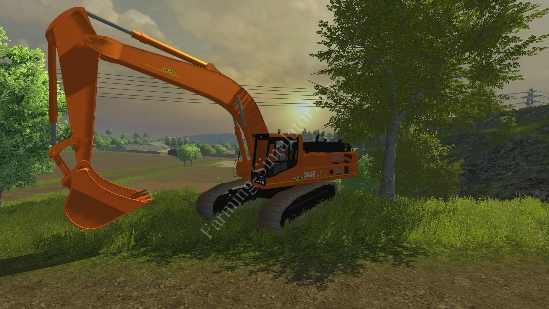 Мод экскаватора CAT 345B Colas v 2.1 Farming Simulator 2013, Farming Simulator 13