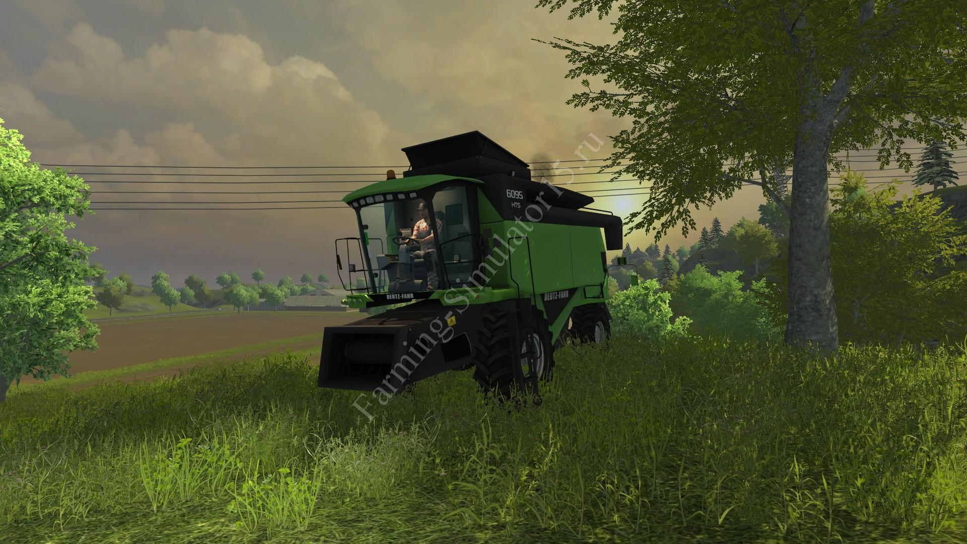 Мод комбайна Deutz Fahr 6095 HTS v 1.0 Farming Simulator 2013, Farming Simulator 13