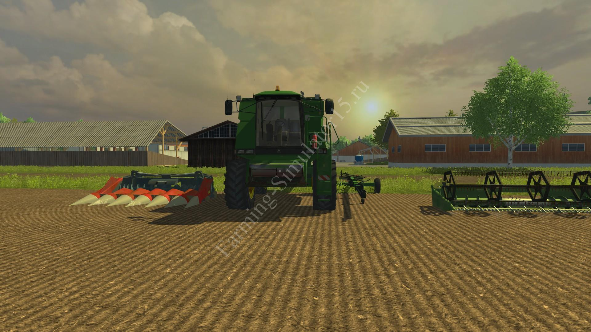 Мод комбайна John Deere 2058 Pack v 2.1 Farming Simulator 2013, Farming Simulator 13