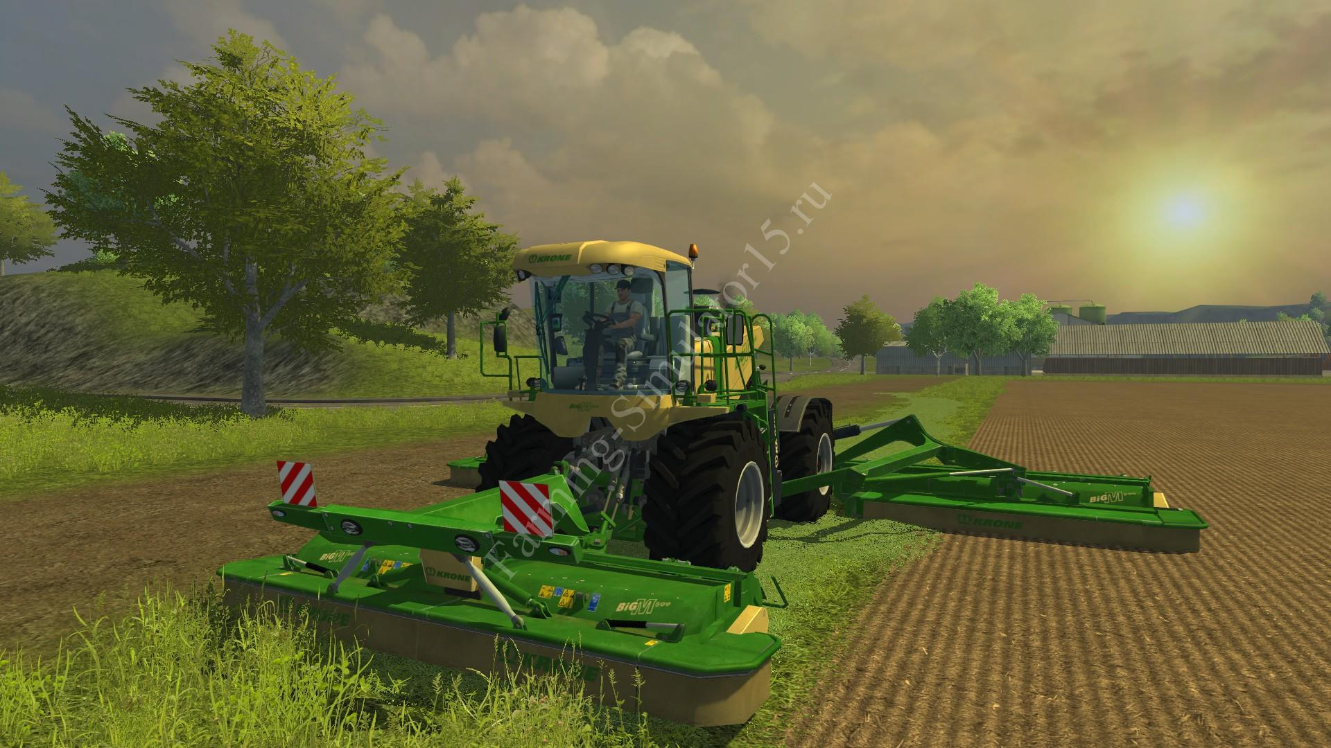 Мод комбайна Krone Big M500 v 1.0 Farming Simulator 2013, Farming Simulator 13