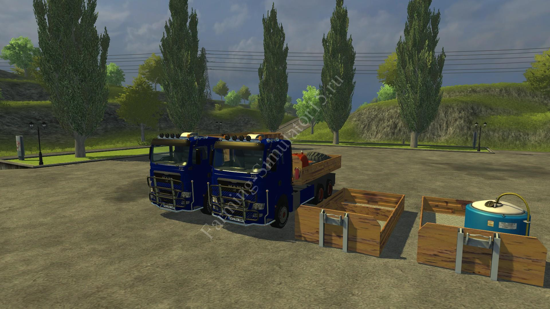 Мод грузовика MAN TGX HKL with container v 5.0 Rost Farming Simulator 2013, Farming Simulator 13