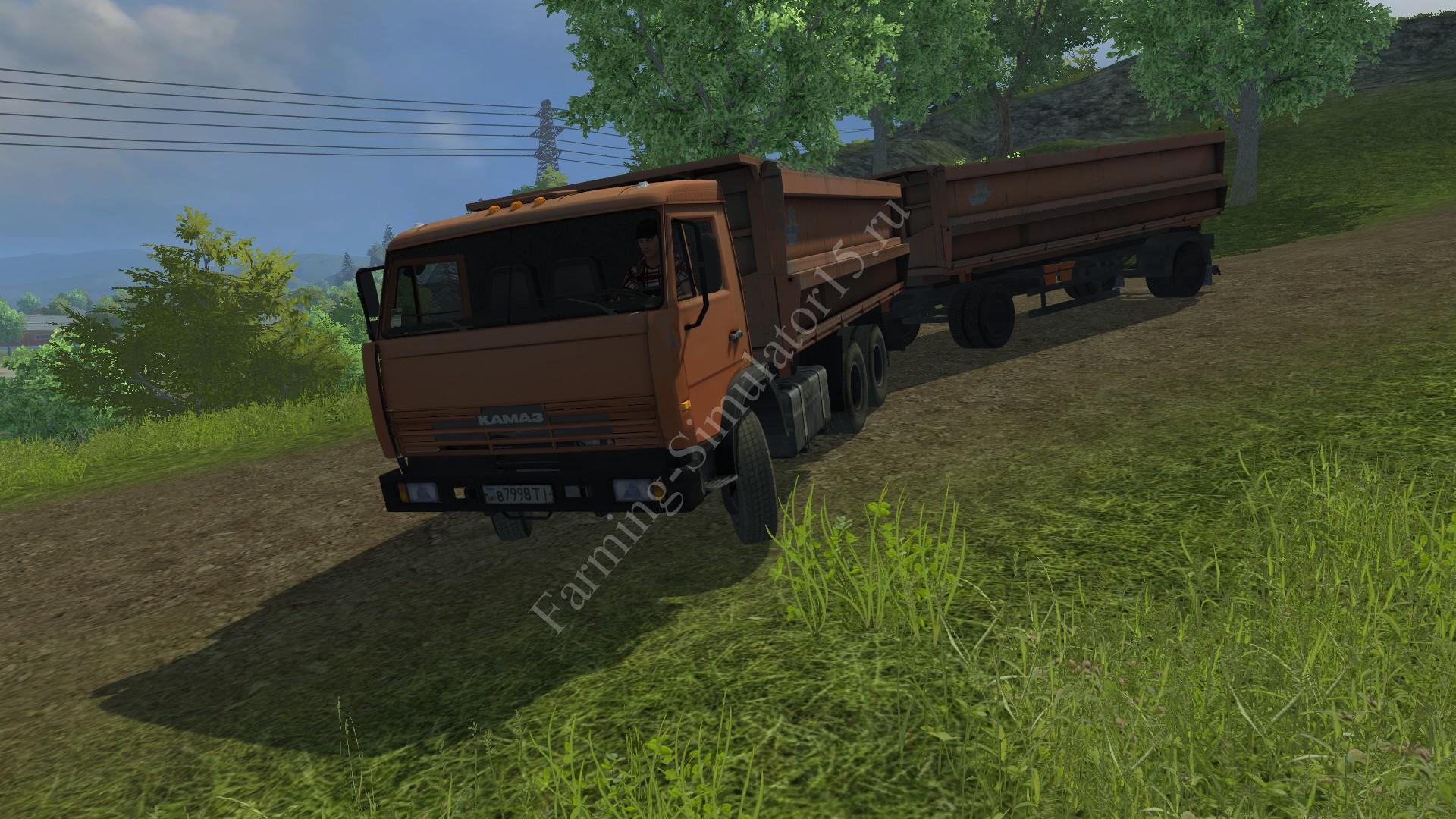 Мод грузовика KamAZ 45280 & trailer Nefaz v 1.0 Farming Simulator 2013, Farming Simulator 13