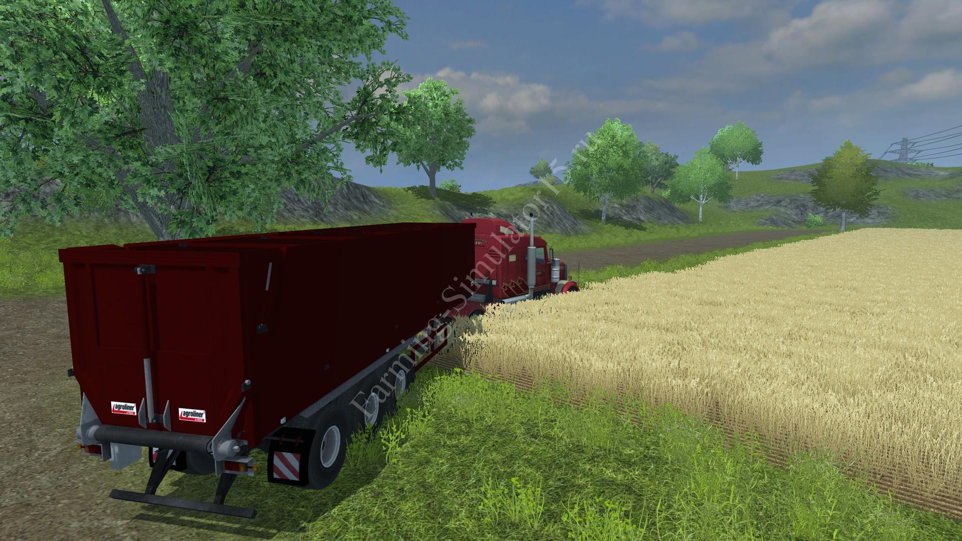 Мод полуприцепа Kroeger Agroliner Dynamic v 1.0 Farming Simulator 2013, Farming Simulator 13
