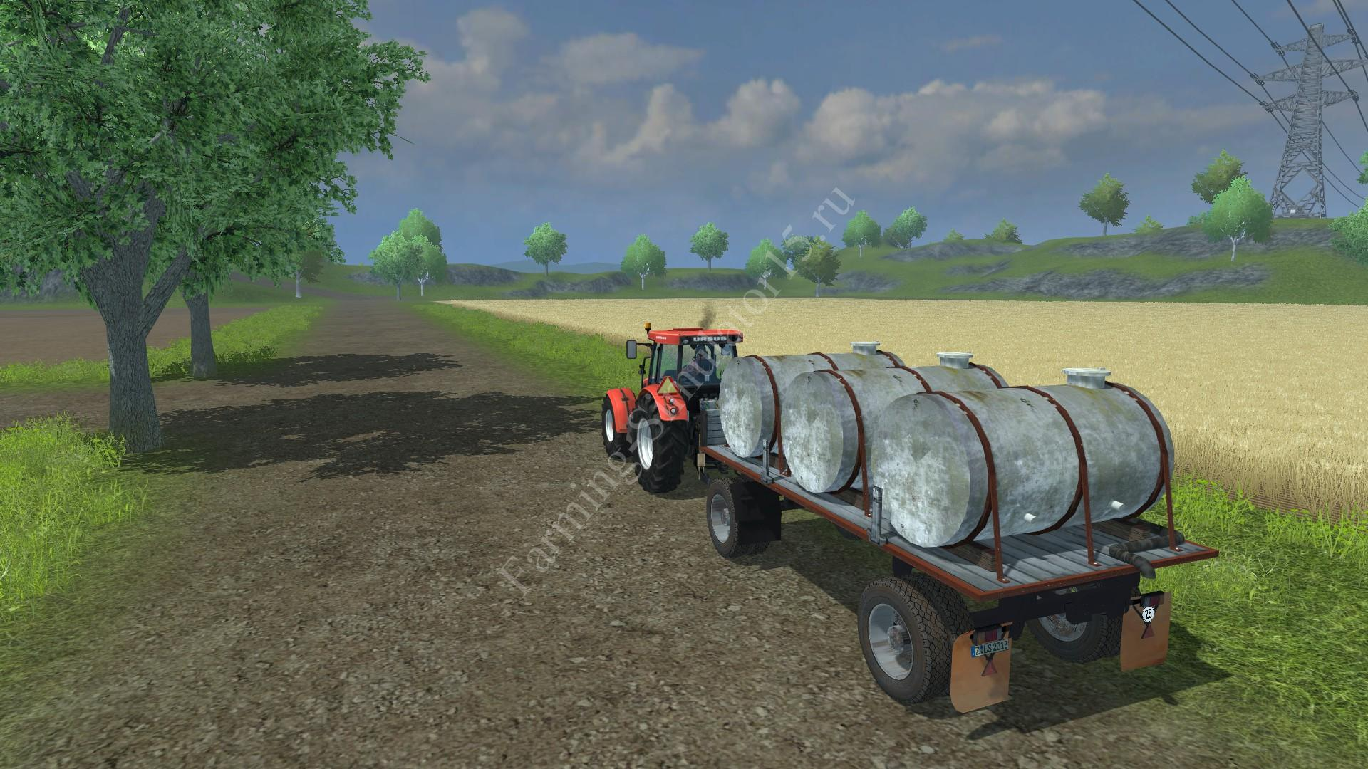Мод прицепа с поворотным кругом HW milk water barrel v 2.0 Farming Simulator 2013, Farming Simulator 13
