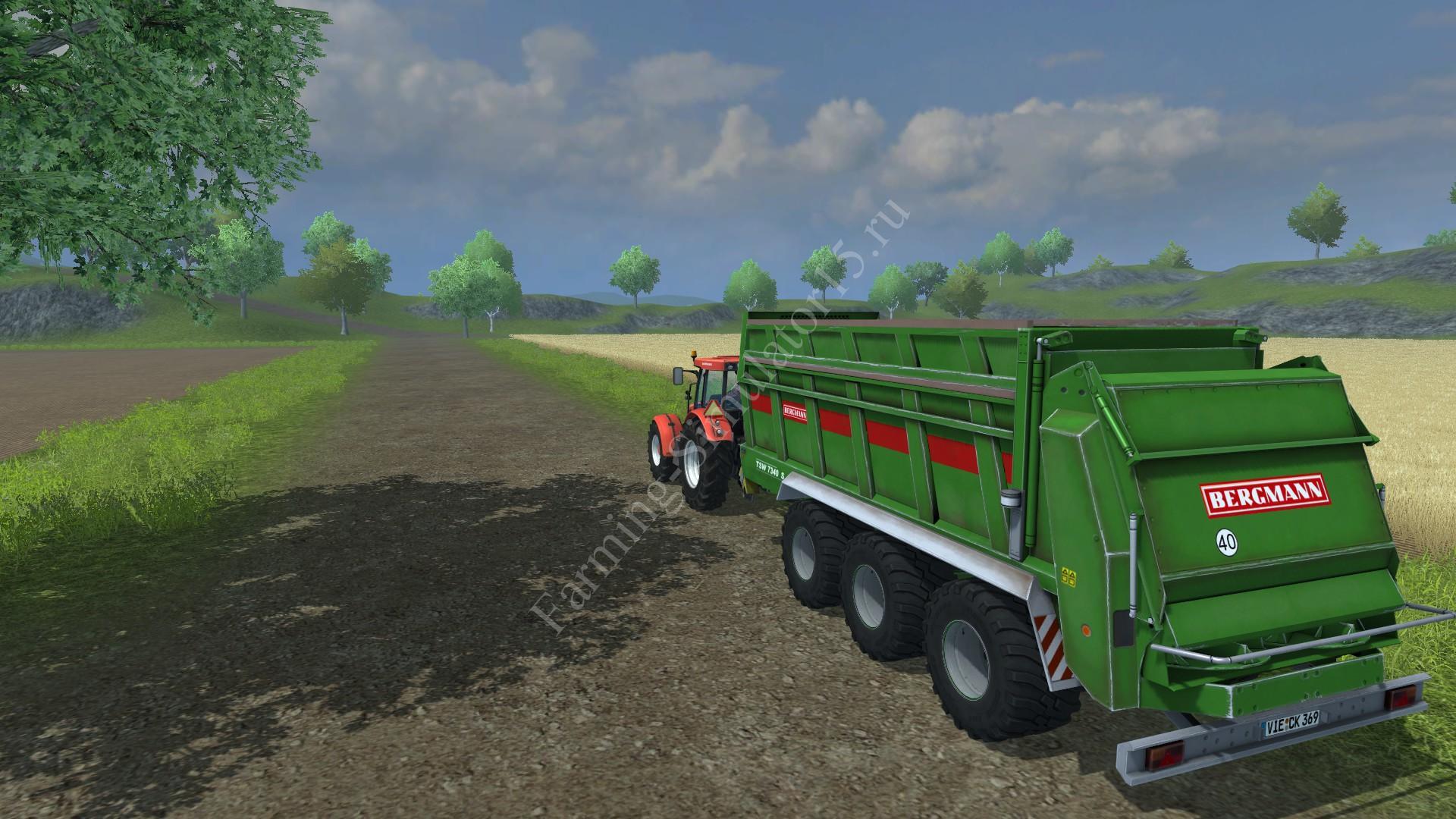 Мод прицепа для удобрений Bergmann TSW 7340S v 1.0 Farming Simulator 2013, Farming Simulator 13