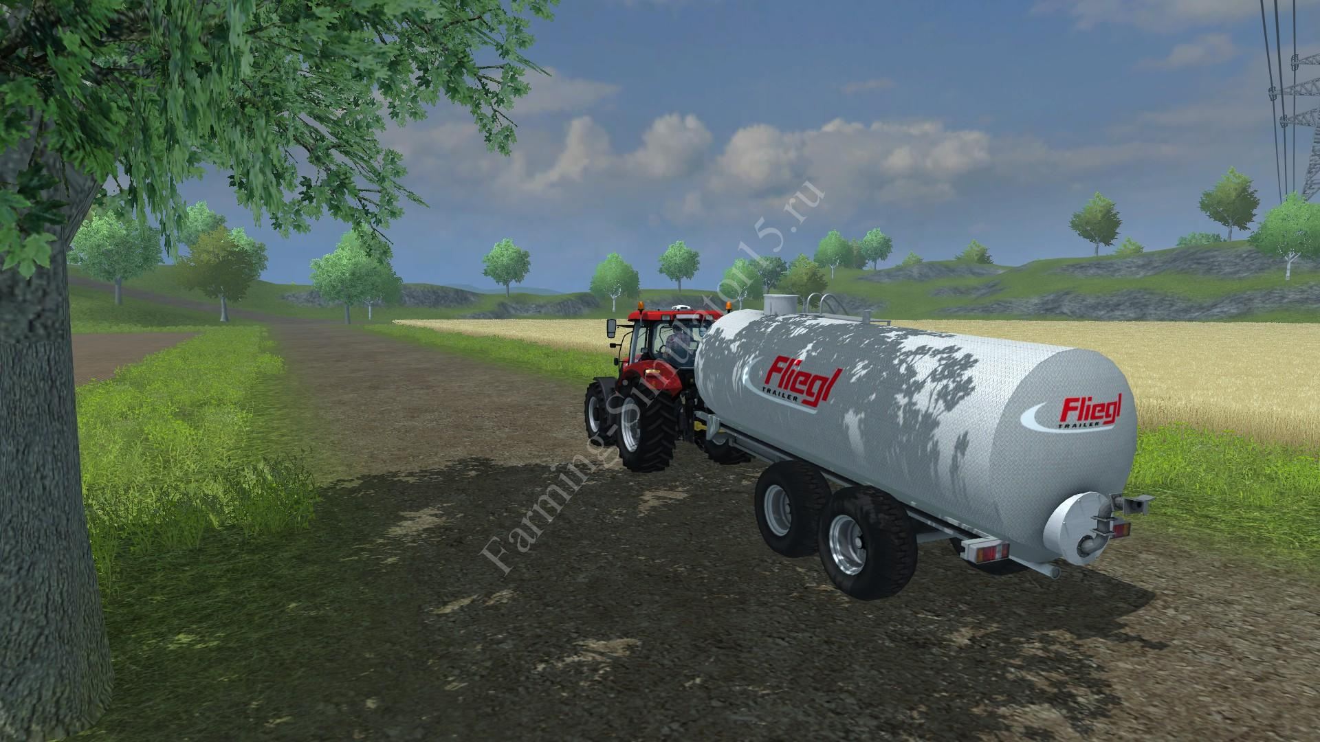 Мод прицепа Fliegl Pump v 1.0 Farming Simulator 2013, Farming Simulator 13