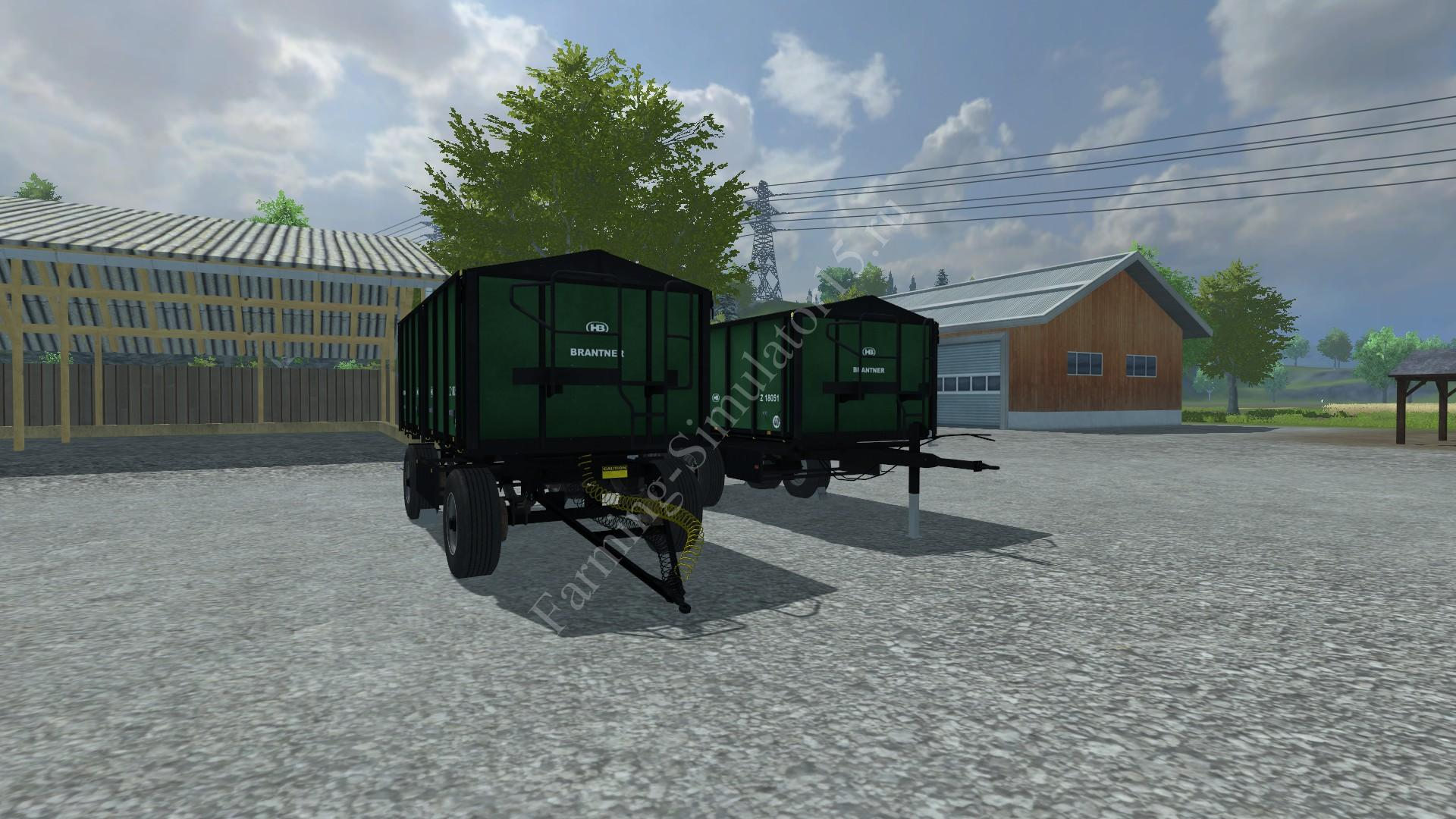 Мод двуосного прицепа BRANTNER Z18051 PACK TRAILER V1.0 Farming Simulator 2013, Farming Simulator 13