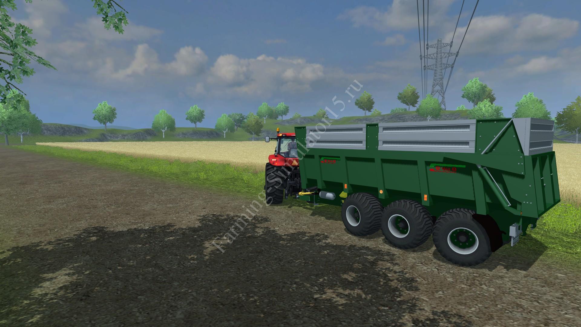 Мод трехосного прицепа Vaia NL27 Gruen v 1.0 Farming Simulator 2013, Farming Simulator 13