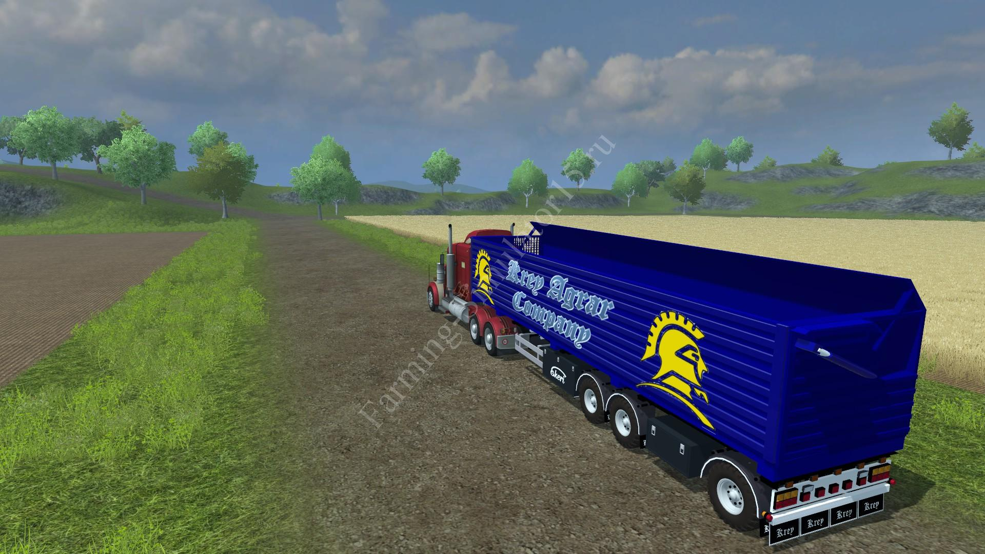 Мод прицепа для силоса HW Big Trailer v 1.0 Farming Simulator 2013, Farming Simulator 13