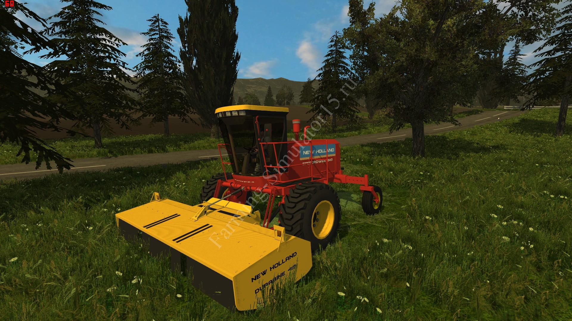 Видео мод газонокосилки New Holland 240 Speedrower Farming Simulator 2013, Farming Simulator 13
