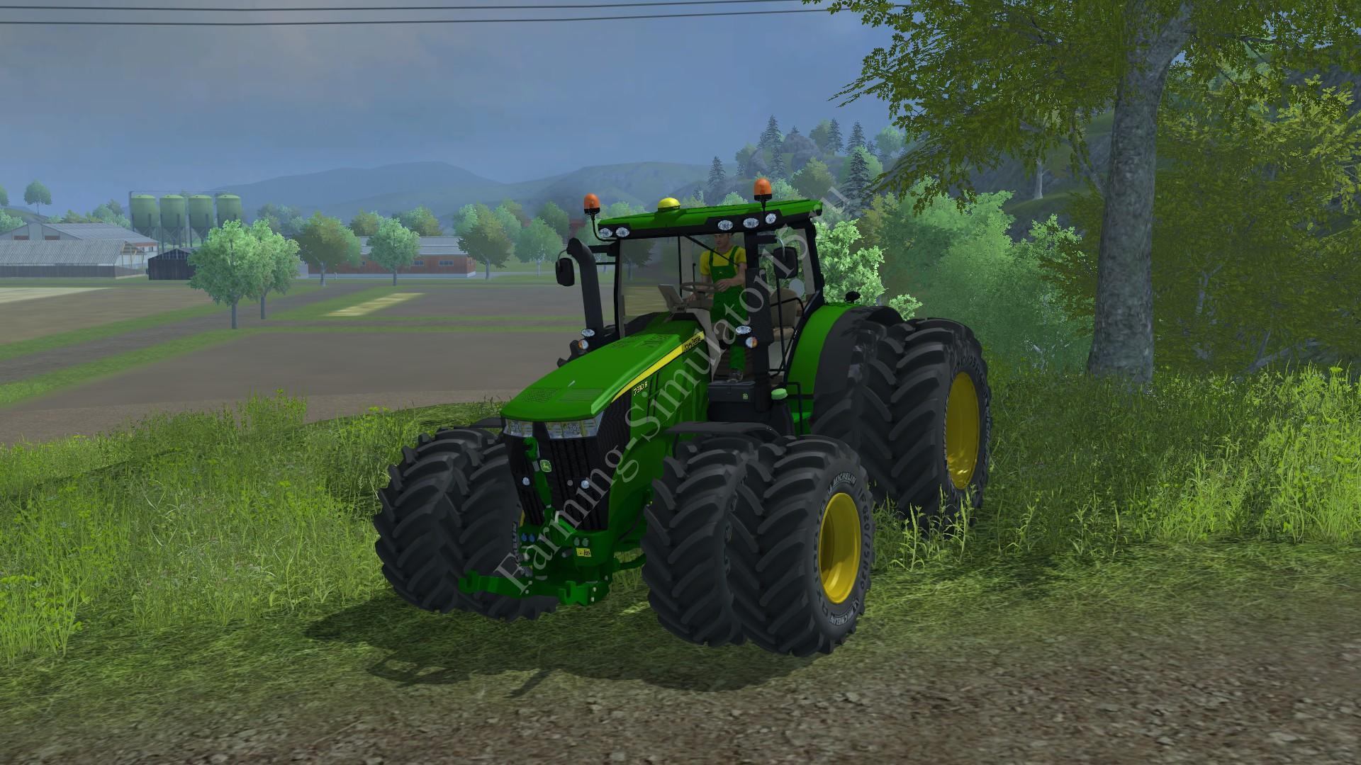 Мод трактора JohnDeere 7310R V2.1 DoubleWheels Farming Simulator 2013, Farming Simulator 13