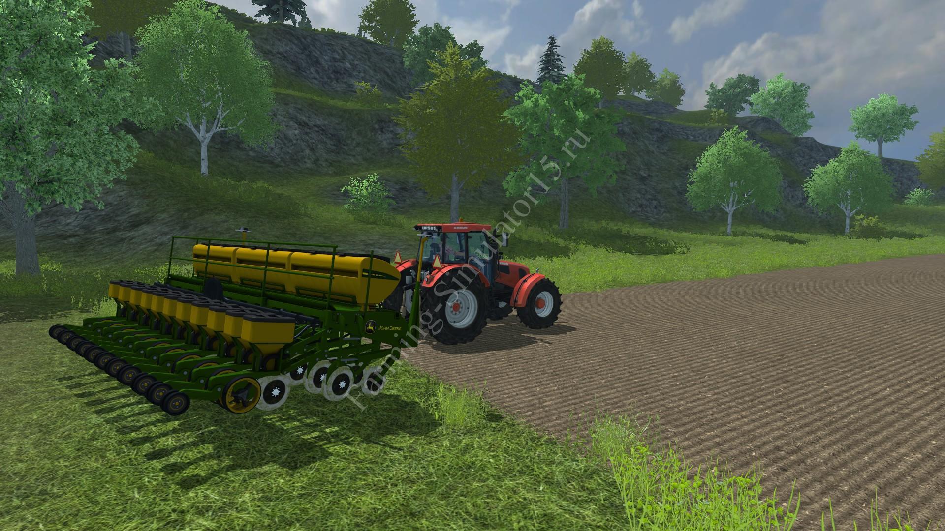Видео мод сеялки John Deere 1111 v 1.5 Farming Simulator 2013, Farming Simulator 13