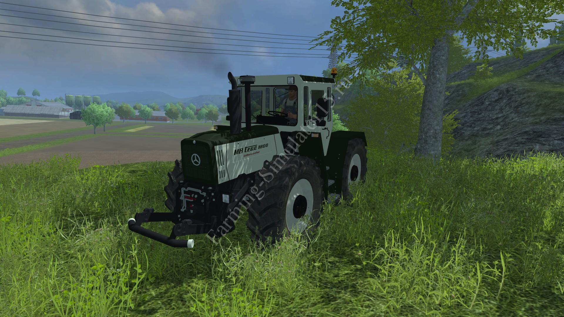 Мод трактора MB Trac 1800 Intercooler Silver Thistle v 2.0 Farming Simulator 2013, Farming Simulator 13