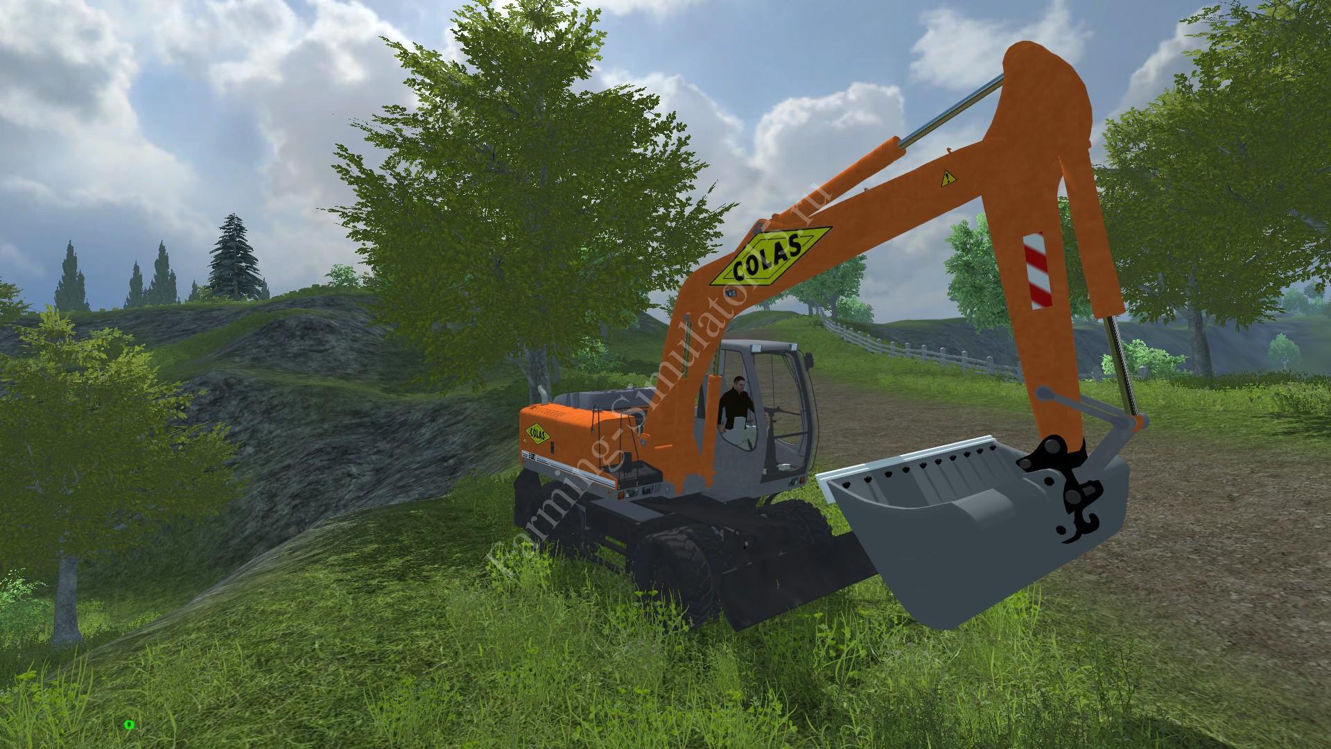 Мод экскаватора Liebherr 900c Colas v 1.0 Farming Simulator 2013, Farming Simulator 13