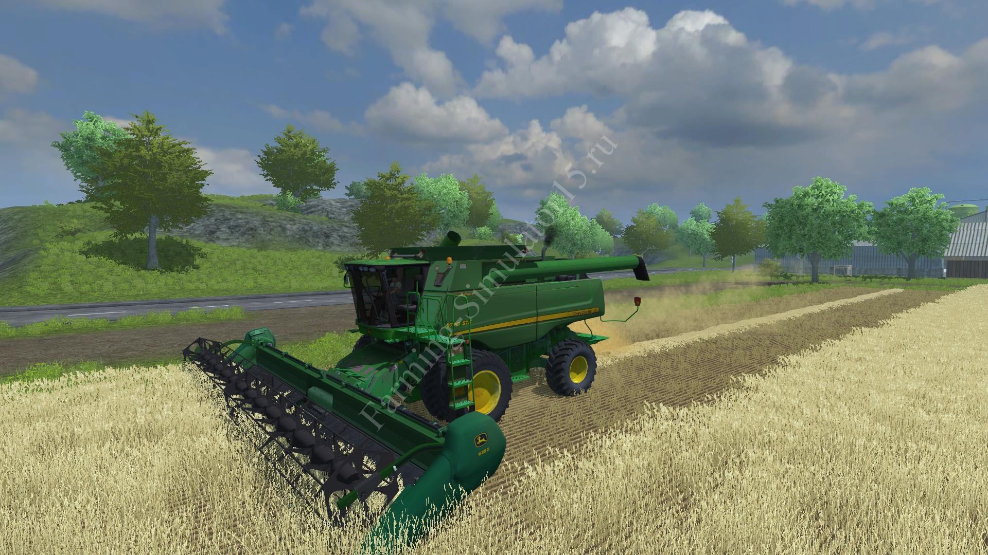 Мод комбайна John Deere 9770 STS v 2.2 Farming Simulator 2013, Farming Simulator 13