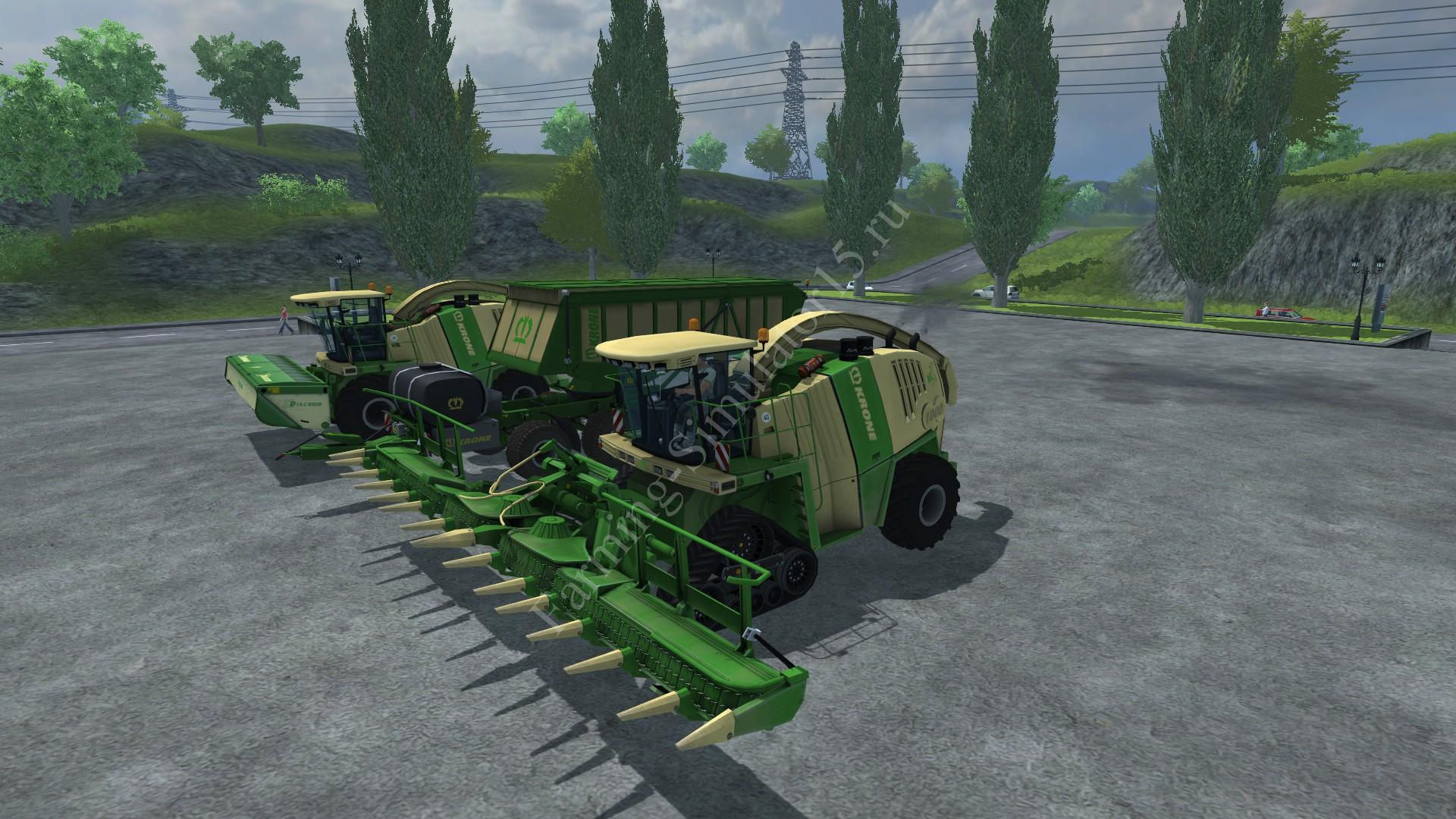 Мод комбайна Krone Big X 1000 Pack v 1.0 Farming Simulator 2013, Farming Simulator 13