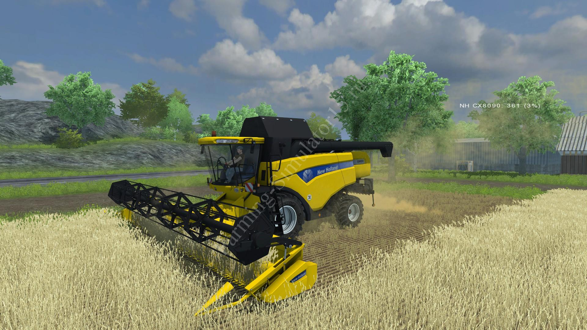 Мод комбайна New Holland CX 8090 v 2.0 Farming Simulator 2013, Farming Simulator 13