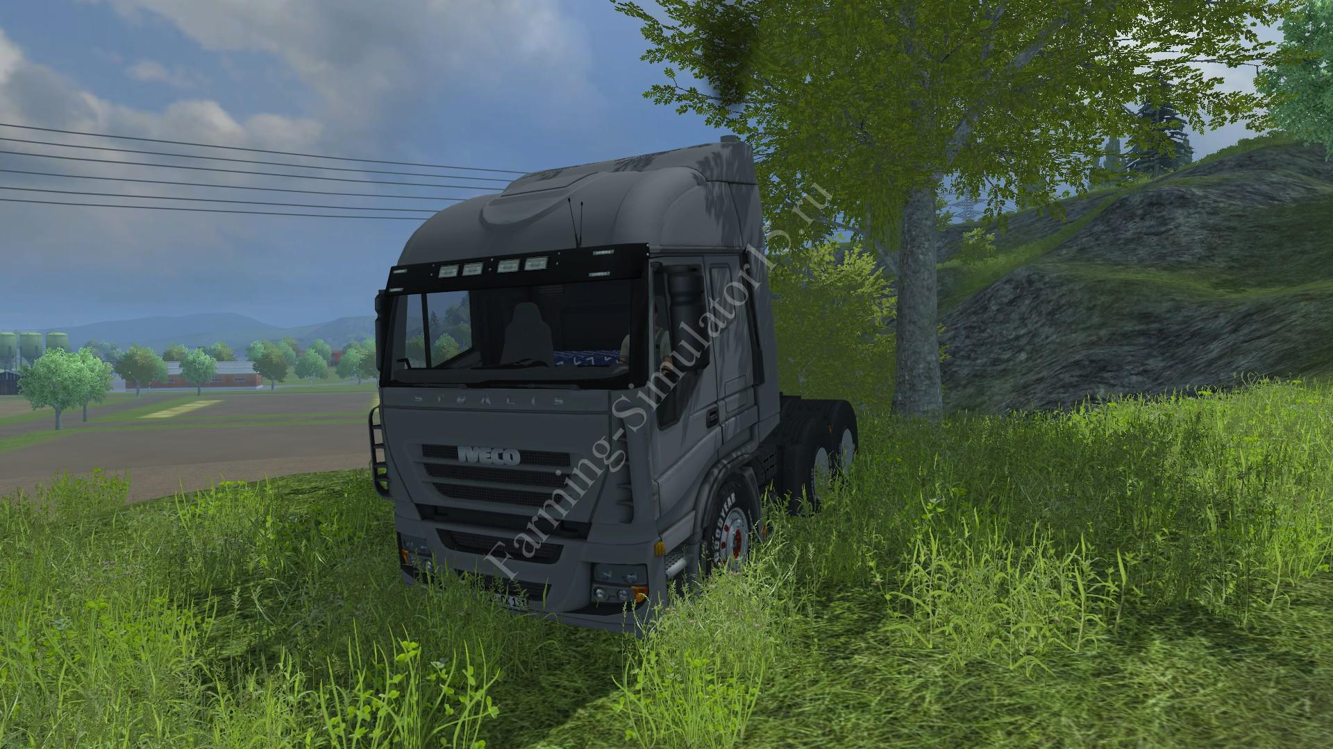 Мод грузовика Iveco Stralis AS 600 v 1.0 Silver Farming Simulator 2013, Farming Simulator 13