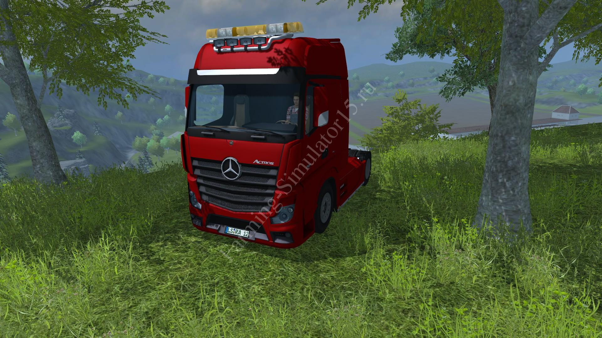 Мод грузовика Mercedes Actros MP4 v 1.0 Farming Simulator 2013, Farming Simulator 13