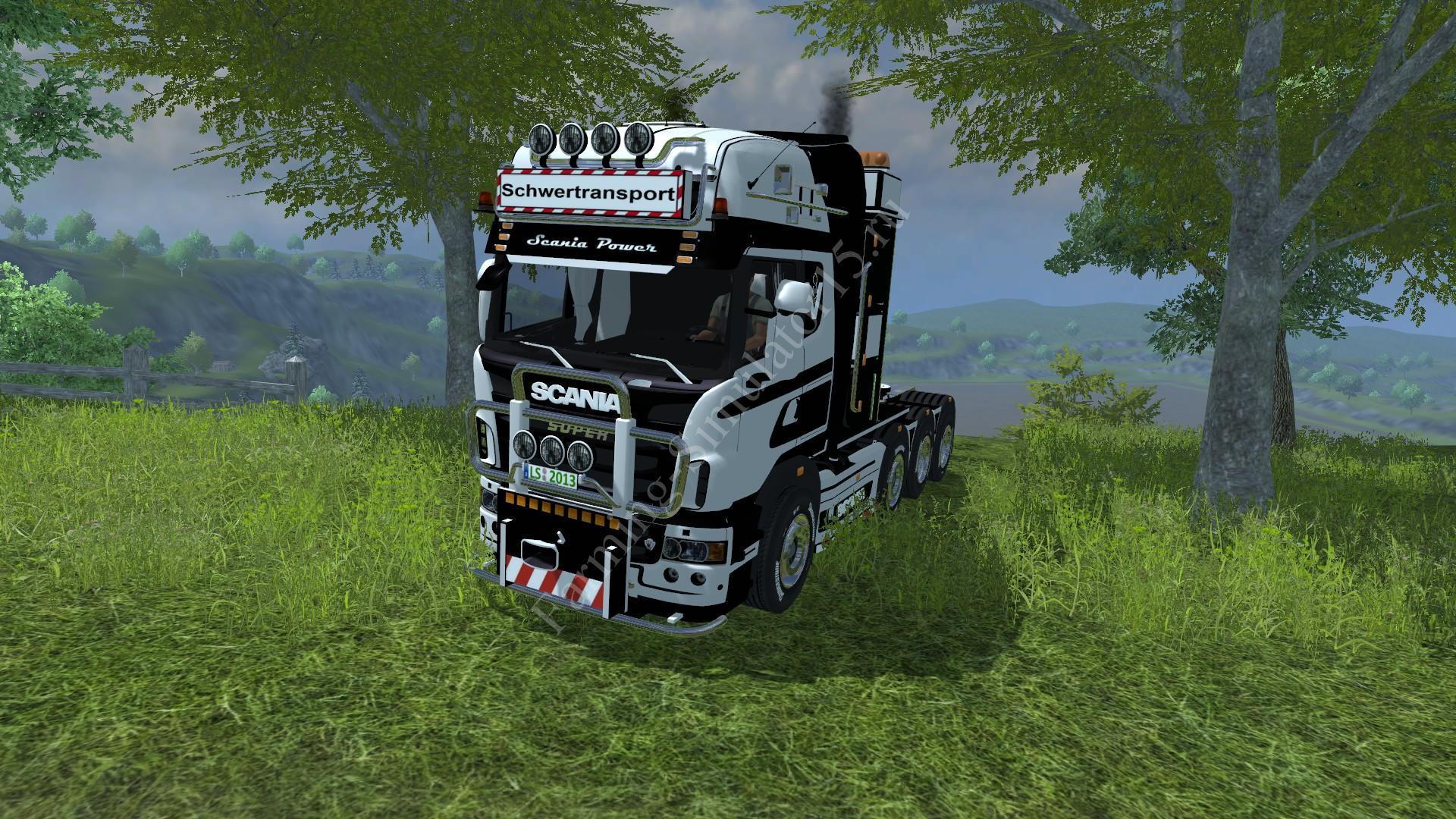 Мод грузовика SCANIA R 560 heavy duty v 2.0 Weißgrau Farming Simulator 2013, Farming Simulator 13