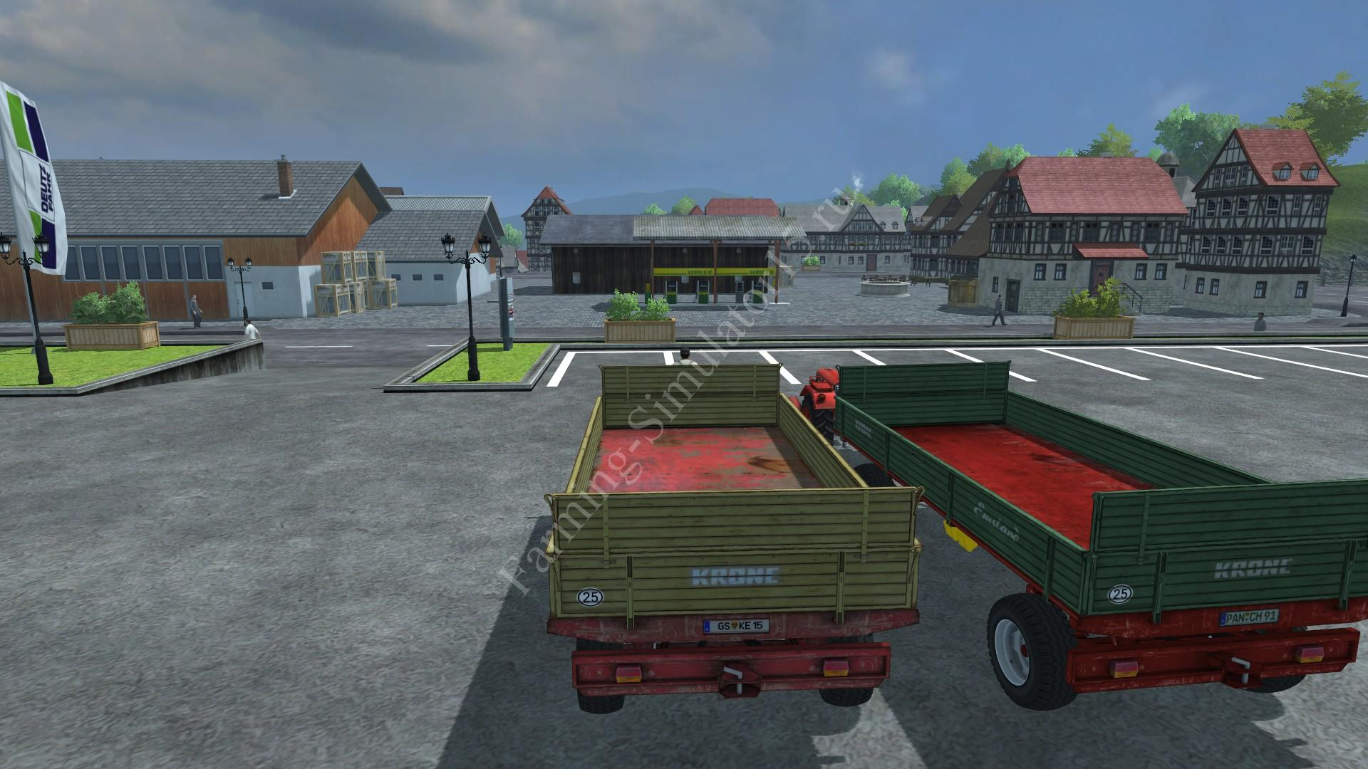 Мод прицепа для тюков Krone Emsland Ball Pack v 1.0 Farming Simulator 2013, Farming Simulator 13