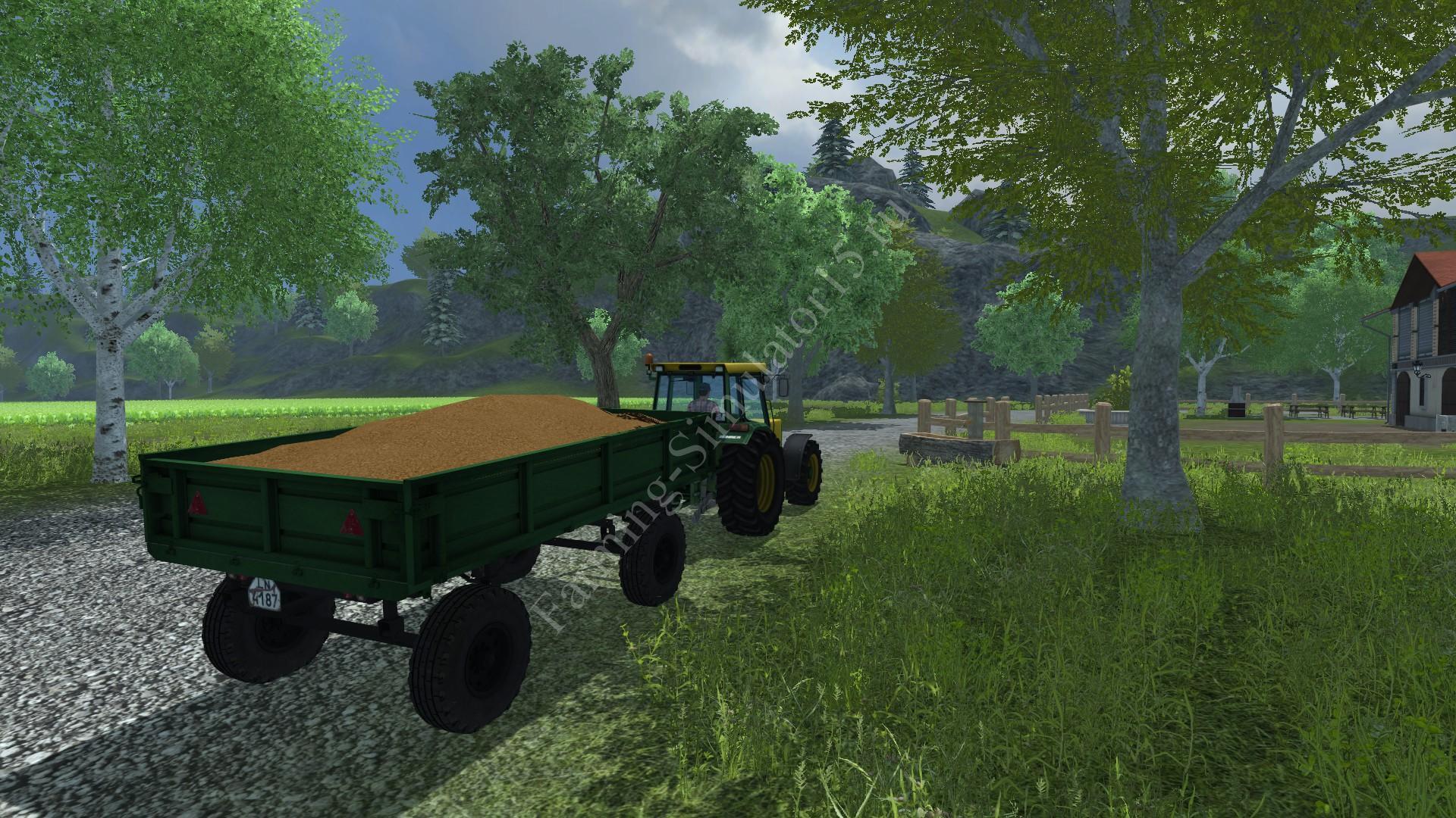 Мод прицепа с поворотным кругом 2PTS 4 v 1.0 Farming Simulator 2013, Farming Simulator 13