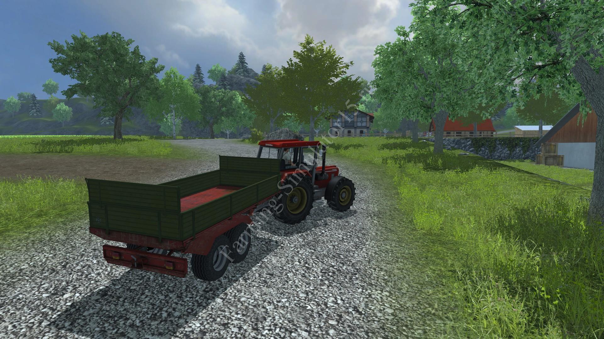 Мод двуосного прицепа Krone Tandem Kipper V 1.0 Farming Simulator 2013, Farming Simulator 13