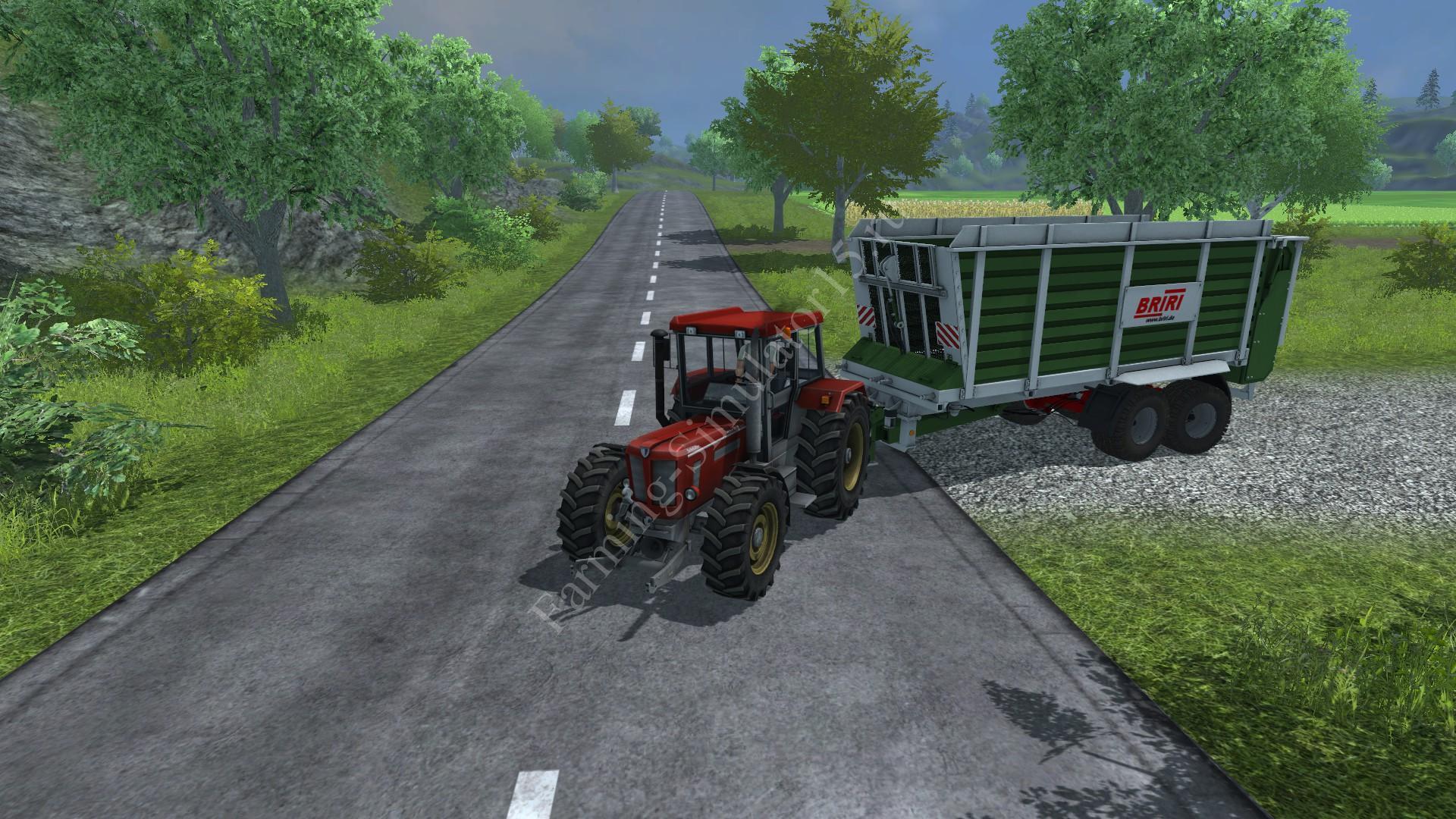 Мод прицепа для силоса Briri SiloTrans 38 v 1.1 Farming Simulator 2013, Farming Simulator 13