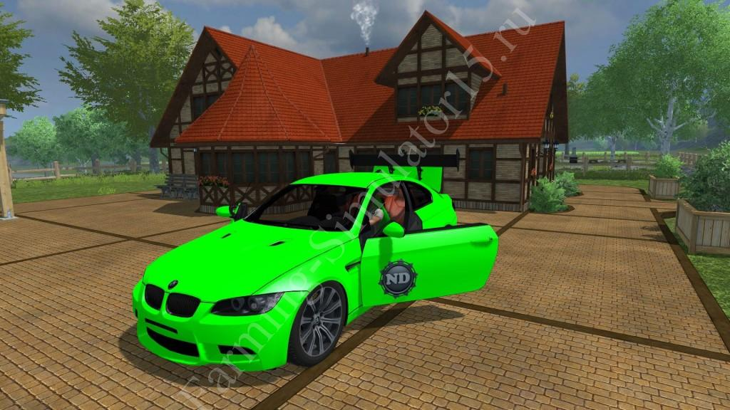 Мод легкового авто BMW M3 v 1.0 Farming Simulator 2013, Farming Simulator 13