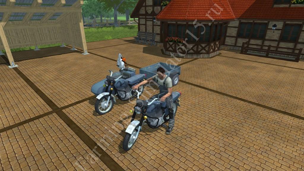 Мод мотоцикла IZH Planeta 5K v 2.0 Forst Farming Simulator 2013, Farming Simulator 13